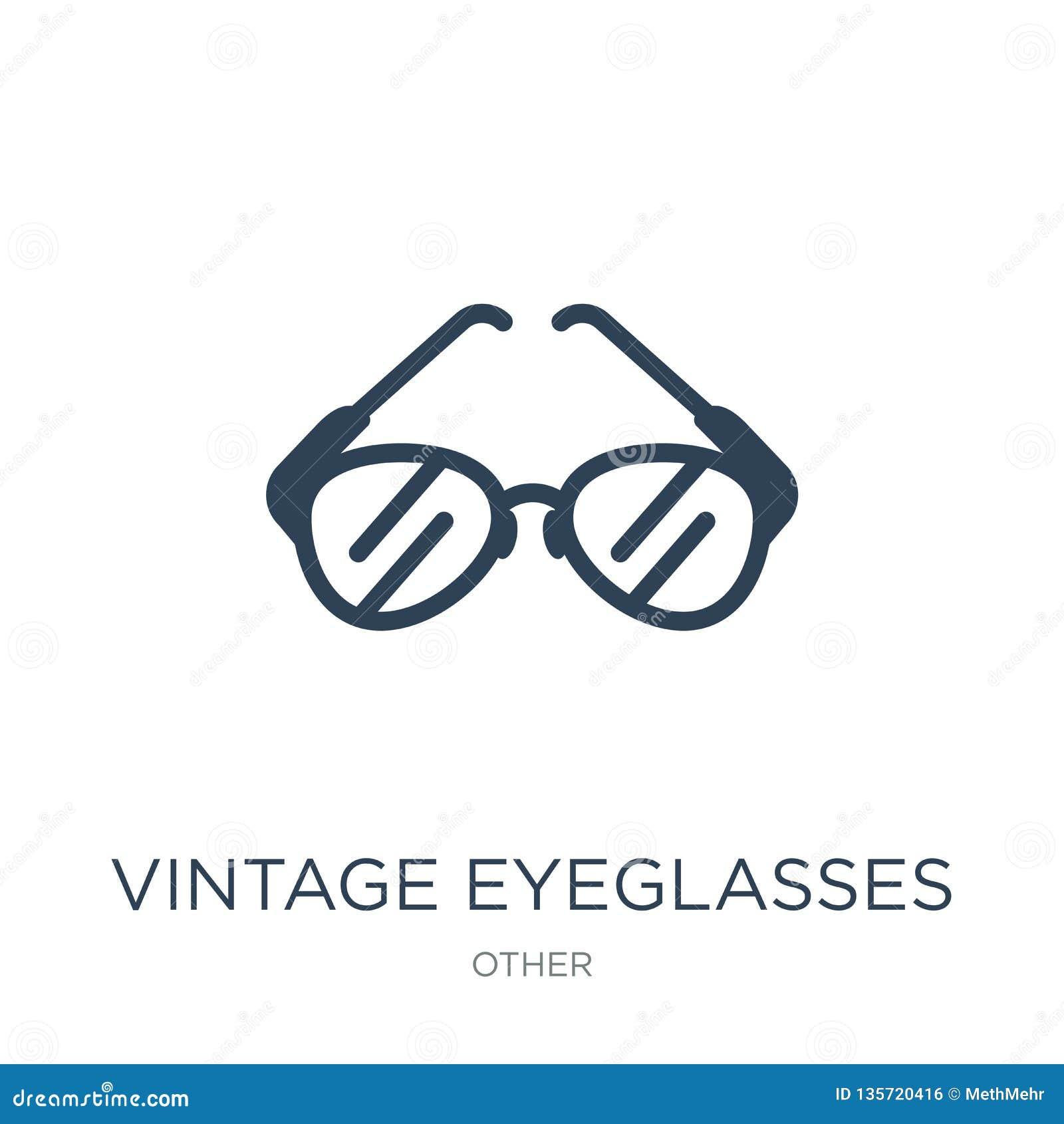 5204d37844c Royalty-Free Vector. vintage eyeglasses icon in trendy design style. vintage  eyeglasses icon isolated on white background.