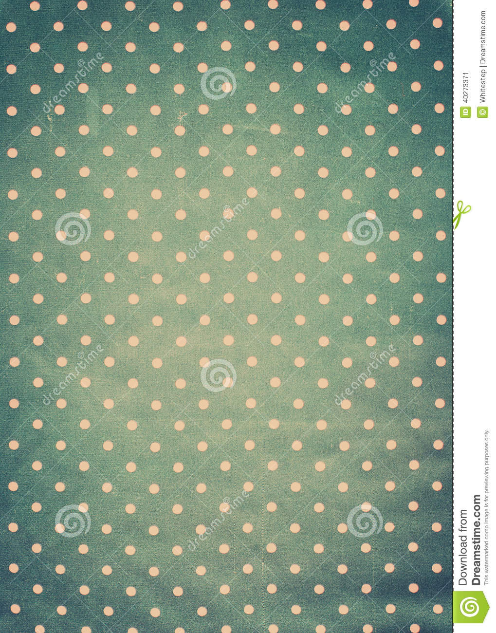 Vintage Fabric Texture With Pink Polka Dots Stock Photo