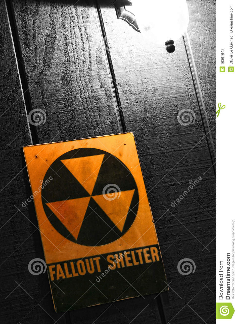 Vintage Fallout Nuclear Bomb Shelter Sign Stock ...