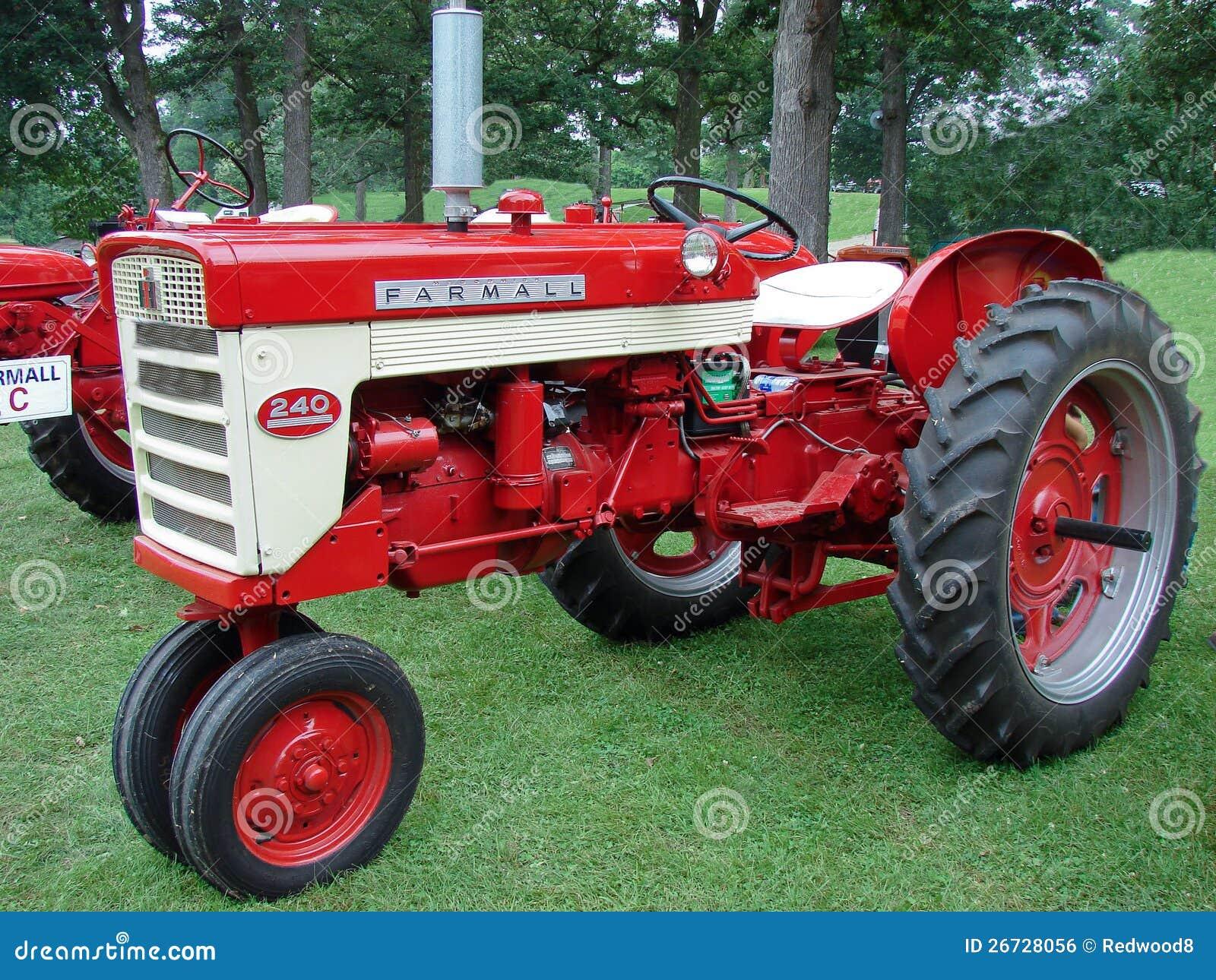 Farmall Tractor Models : Vintage farmall model farm tractor editorial photo