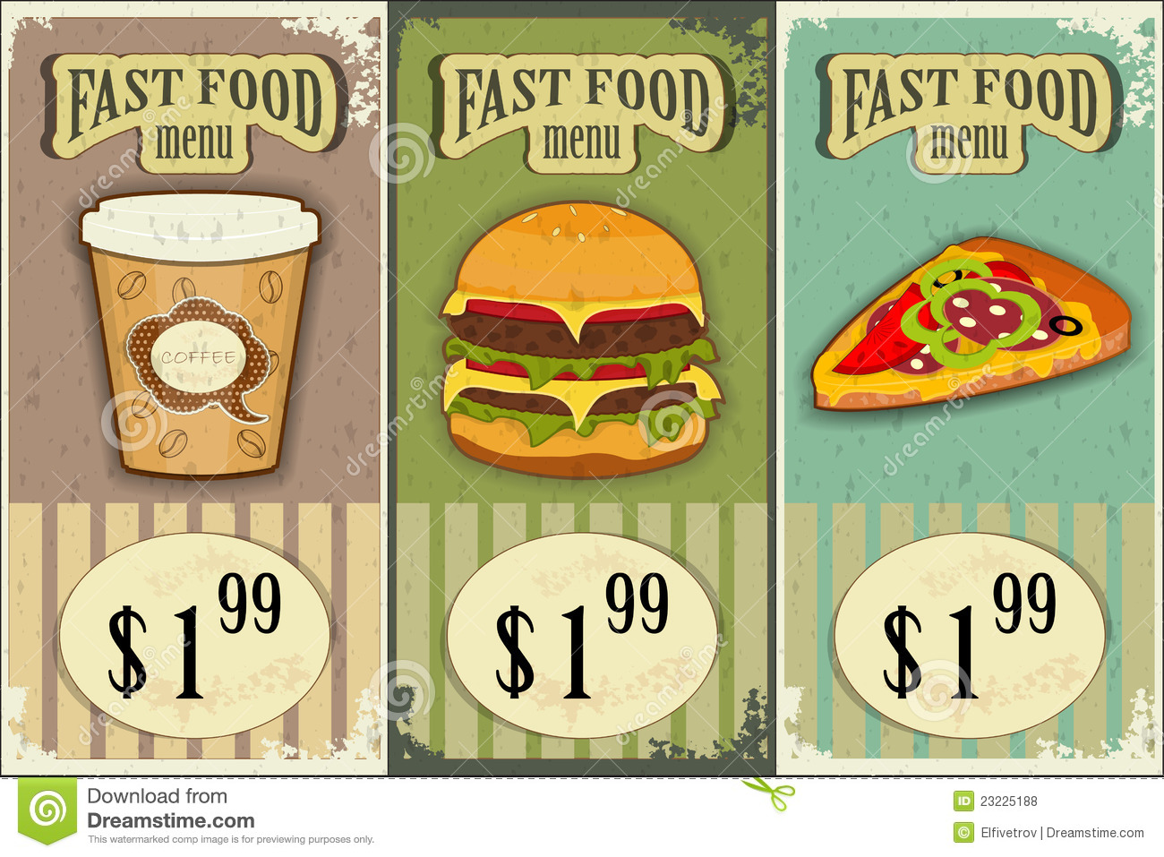 Vintage Fast Food Labels Royalty Free Stock Photos - Image: 23225188