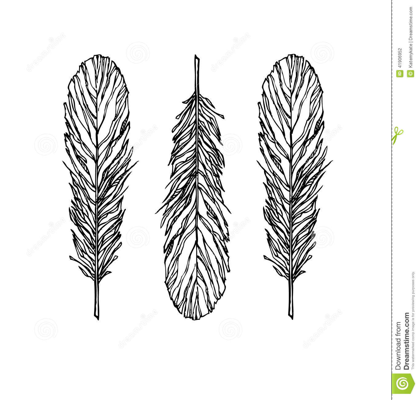 Vintage Bohemian Feather Big Set Isolated On White Auto Electrical Fuel Mercedes Filter Benz Location1996s500 Gallery