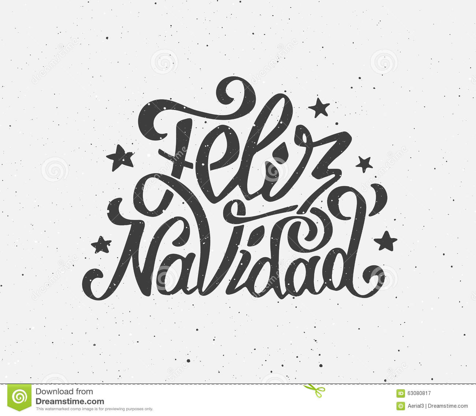 vintage feliz navidad typographic vector poster stock vector