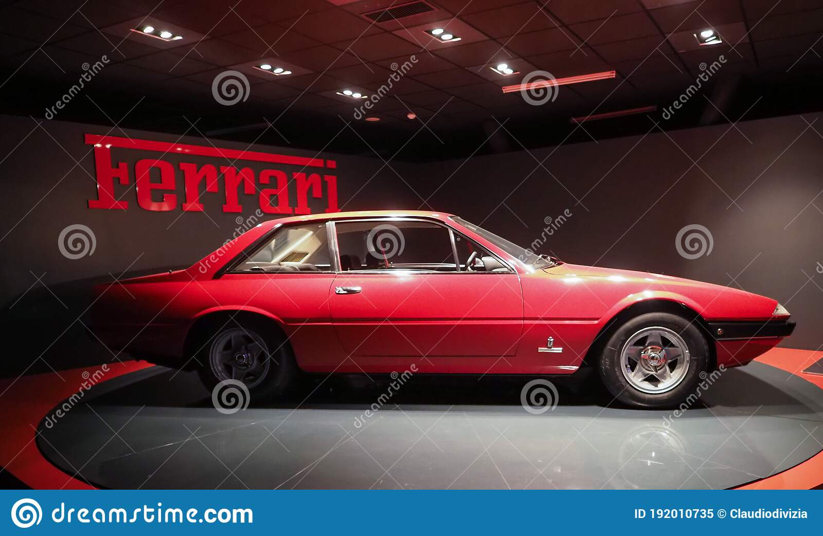 Vintage Ferrari Gt4 Car At Turin Car Museum In Turin Editorial Image Image Of Editorial Piedmont 192010735