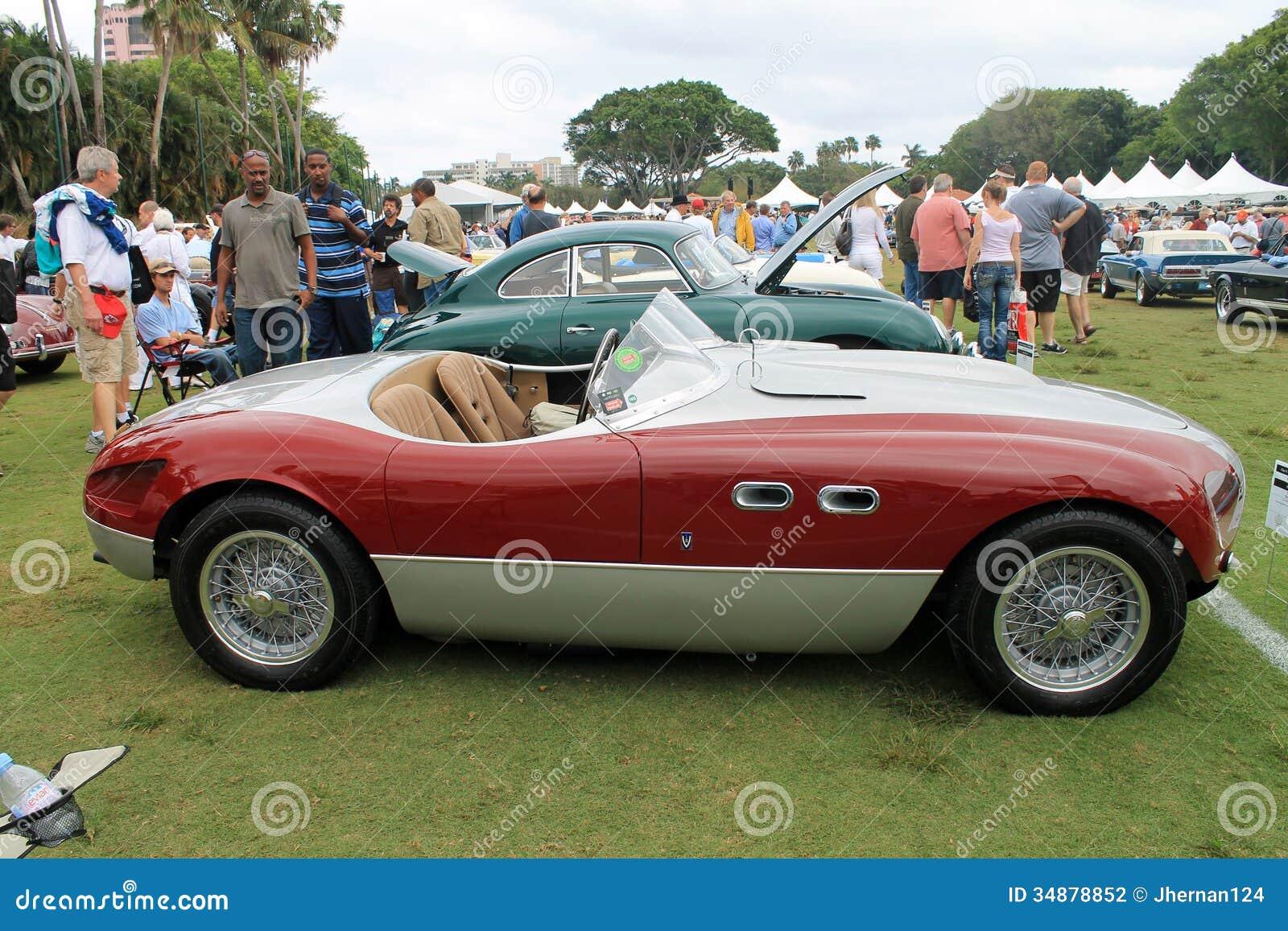 Vintage Ferrari Sports Car Editorial Photography Image