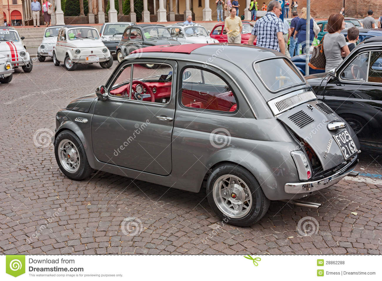 Vintage Fiat 500 Abarth Editorial Stock Photo Image