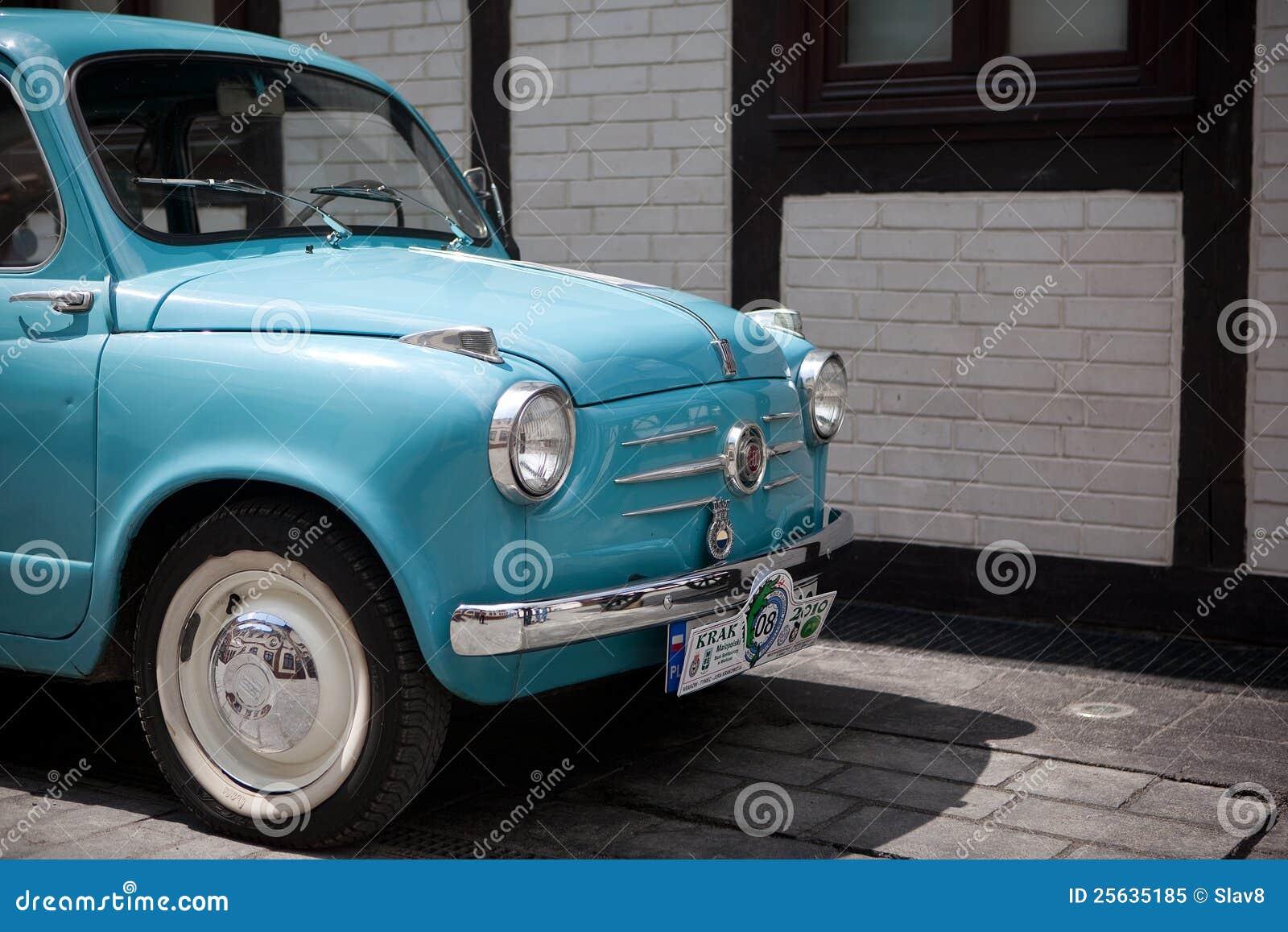 Vintage Fiat 600 in Kraków Museum