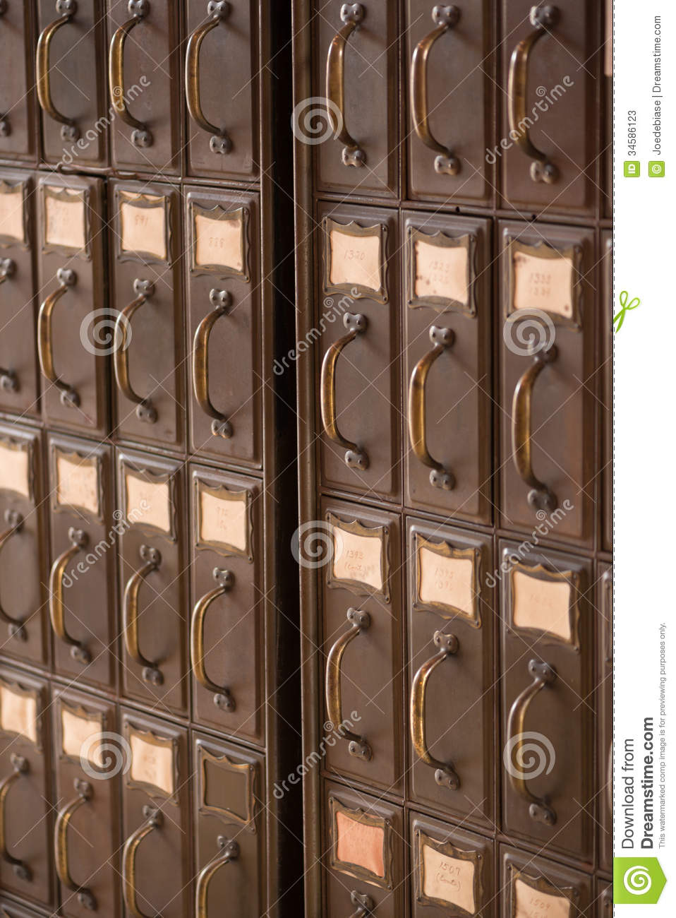 Vintage File Cabinet Stock Image Image Of Educational