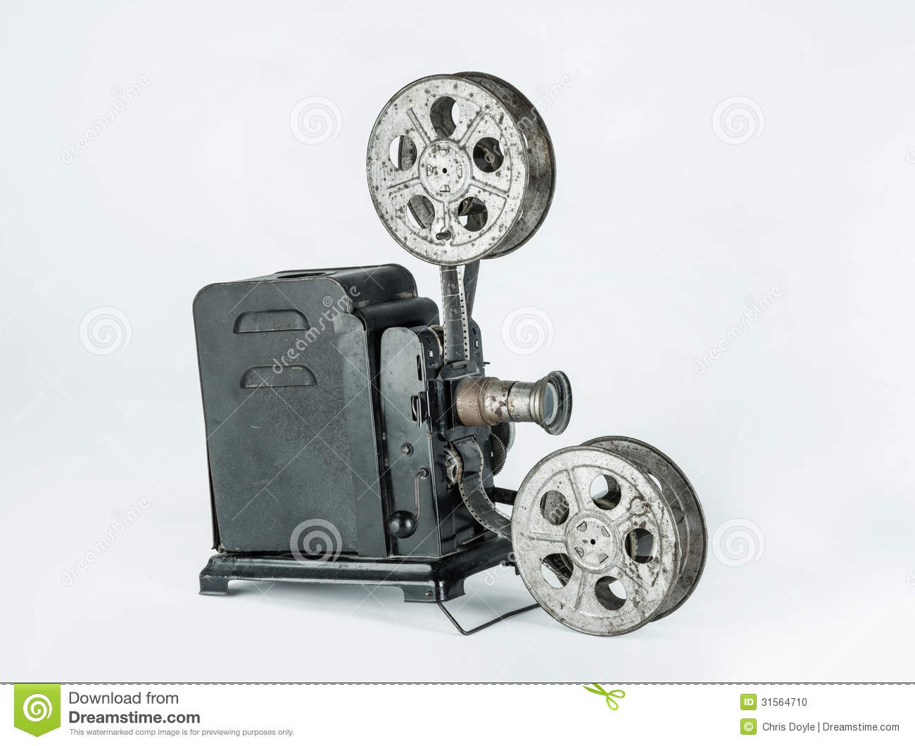 Vintage Film Projector Stock Photo - Image: 31564710