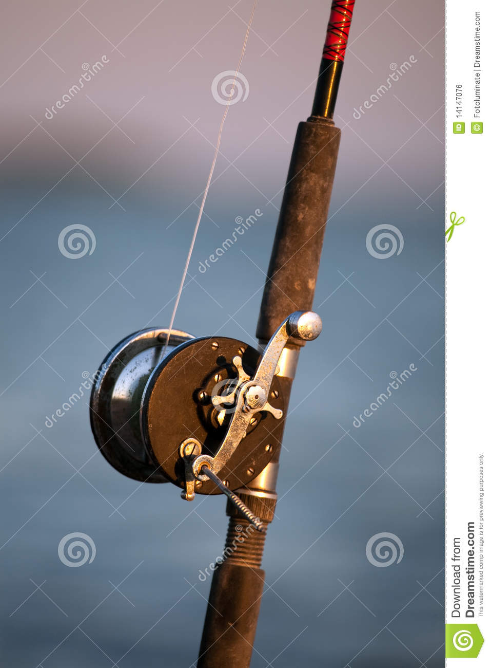 Vintage fishing rod and reel stock photo image 14147076 for Vintage fishing rods