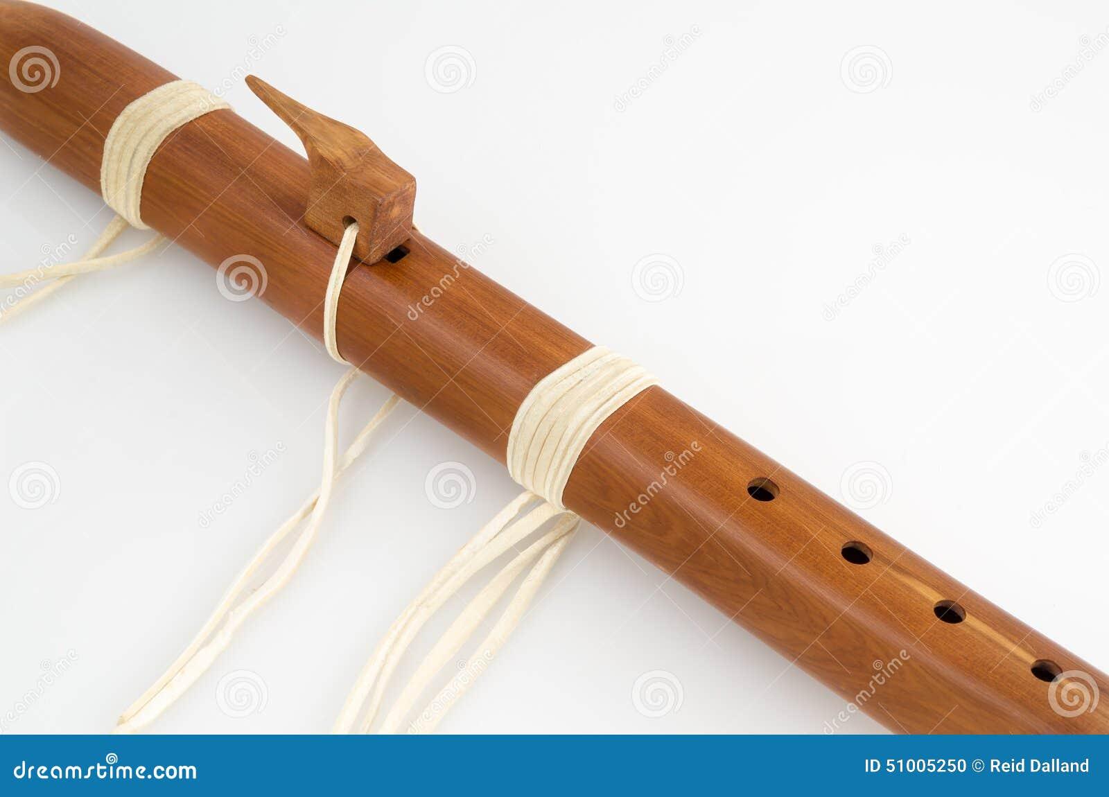 Vintage, flauta primitiva do nativo americano
