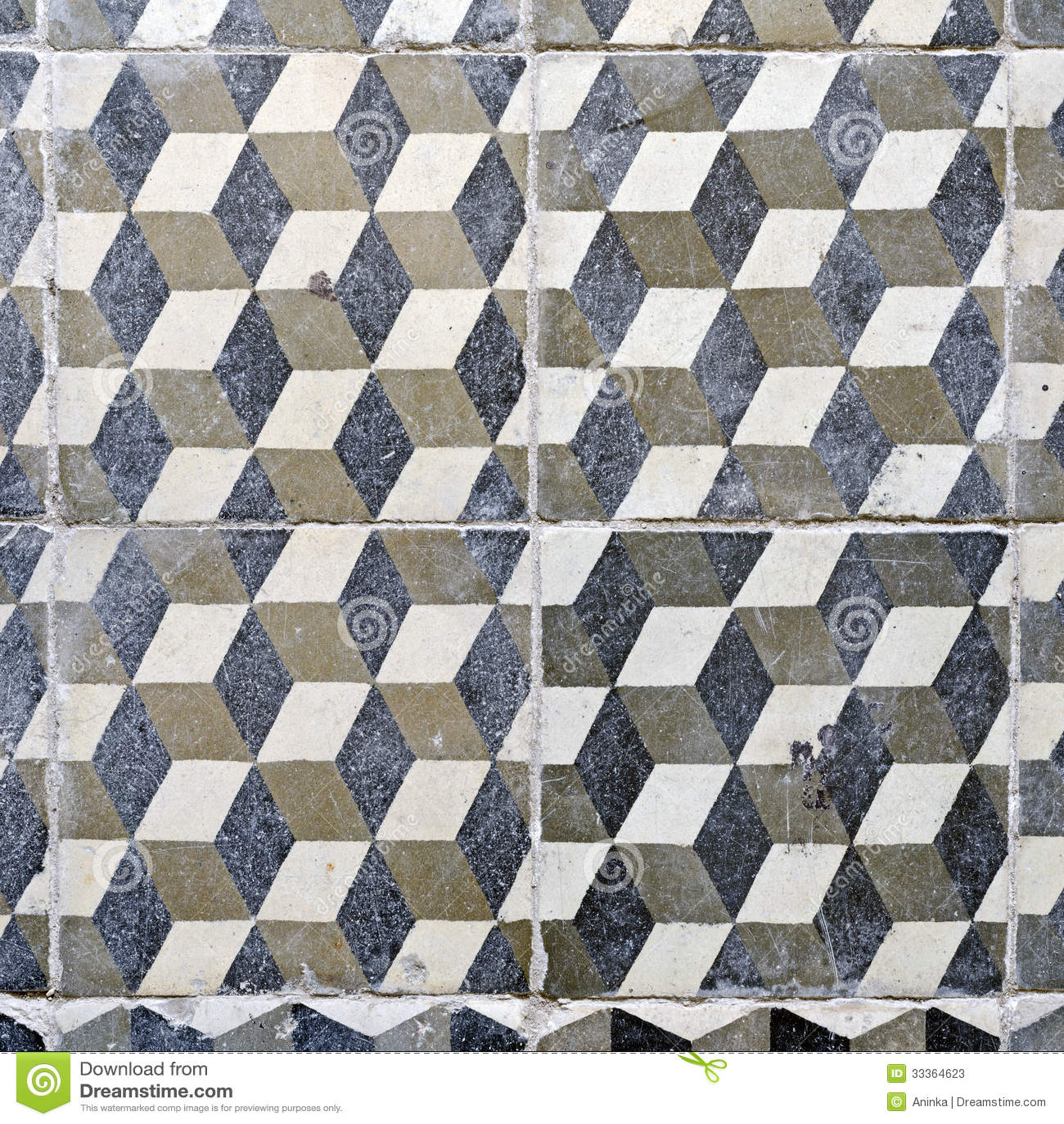 Vintage Floor Tiles Stock Photos Image 33364623