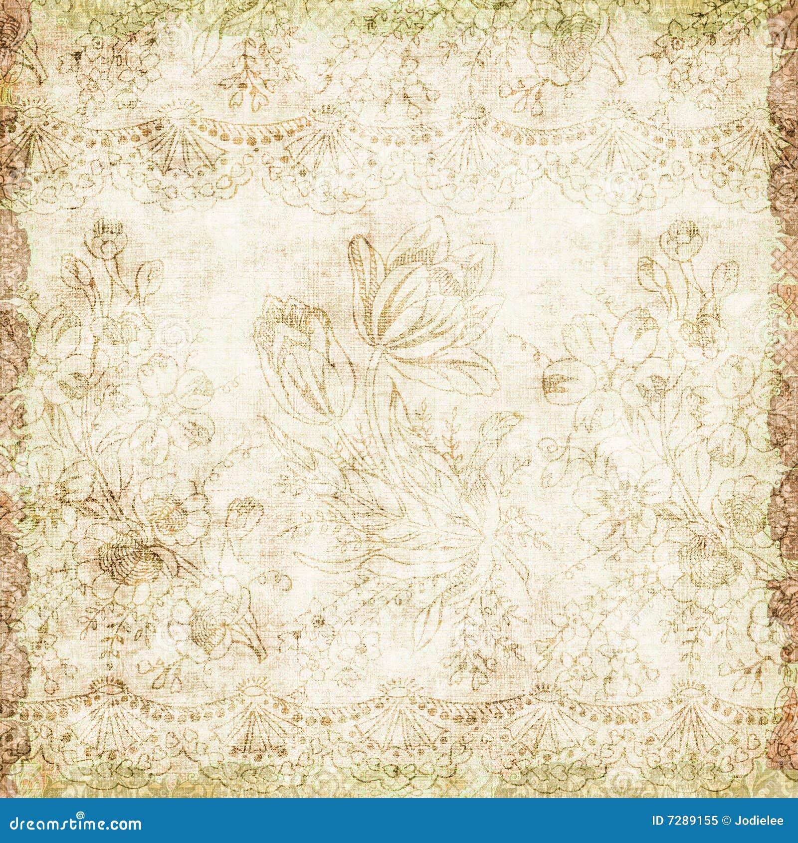 Floral vintage background - Vintage Floral Antique Background Theme Royalty Free Stock Photo