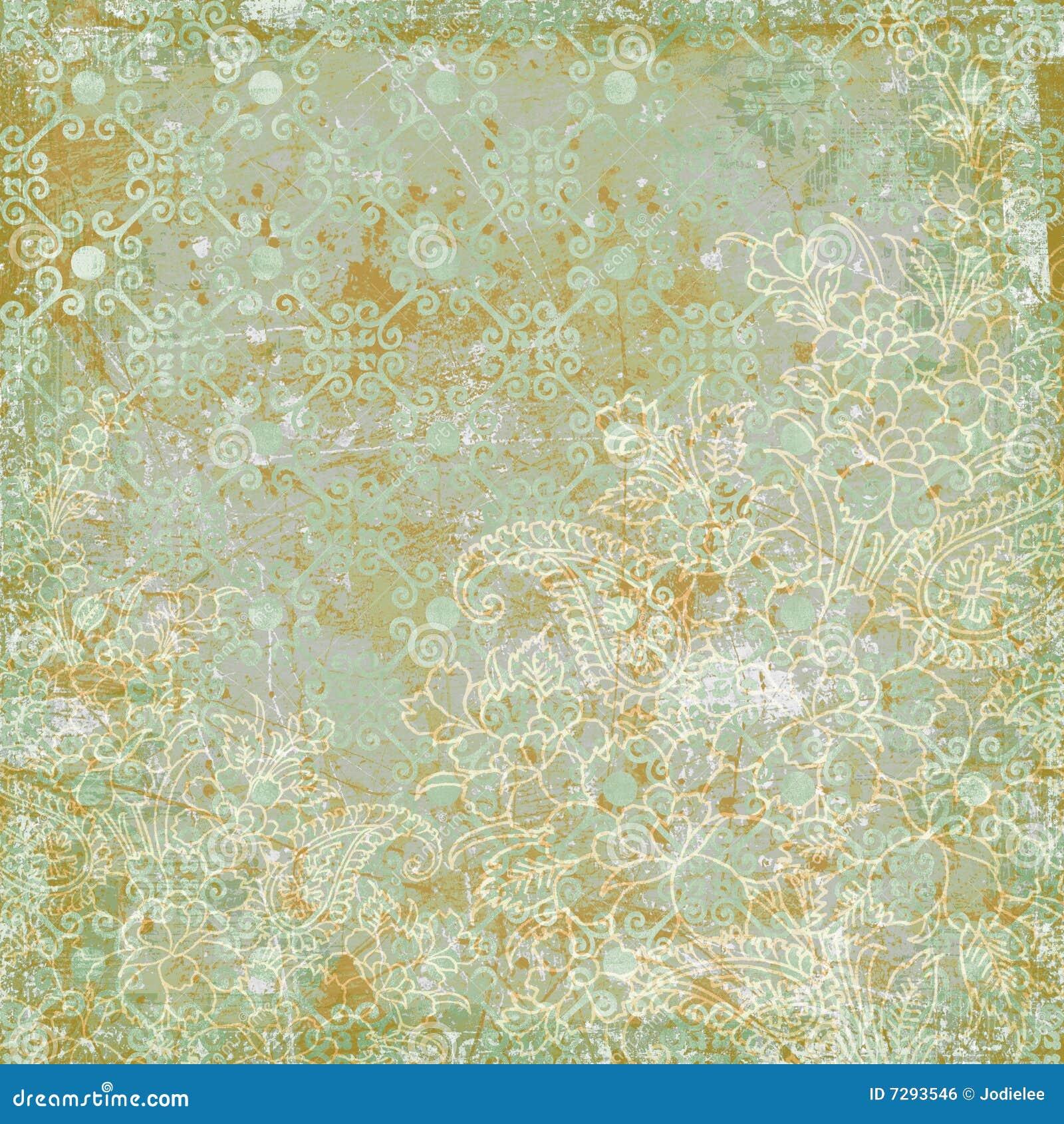 Vintage floral antique background theme