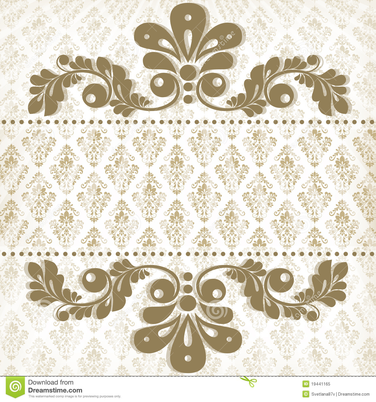 Vintage Floral Background Stock Vector Illustration Of Background