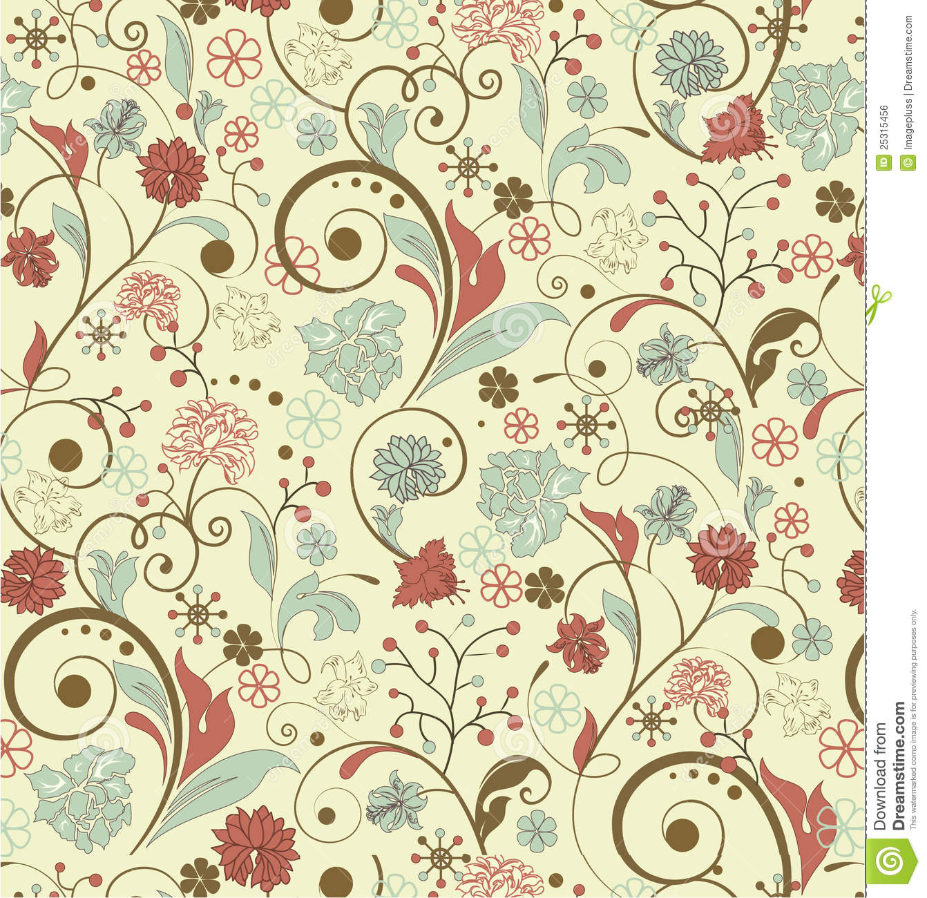 Vintage Flower Background Pattern Vintage floral…