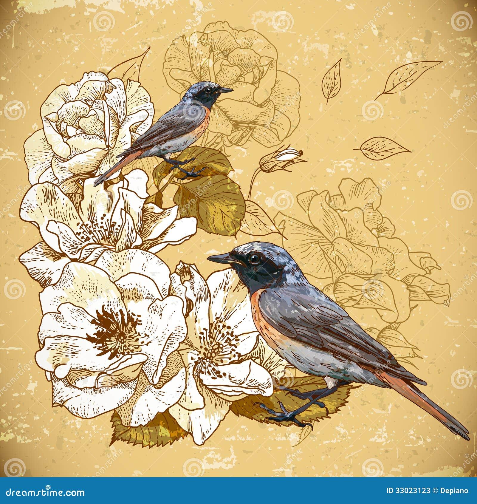 vintage bird background twitter