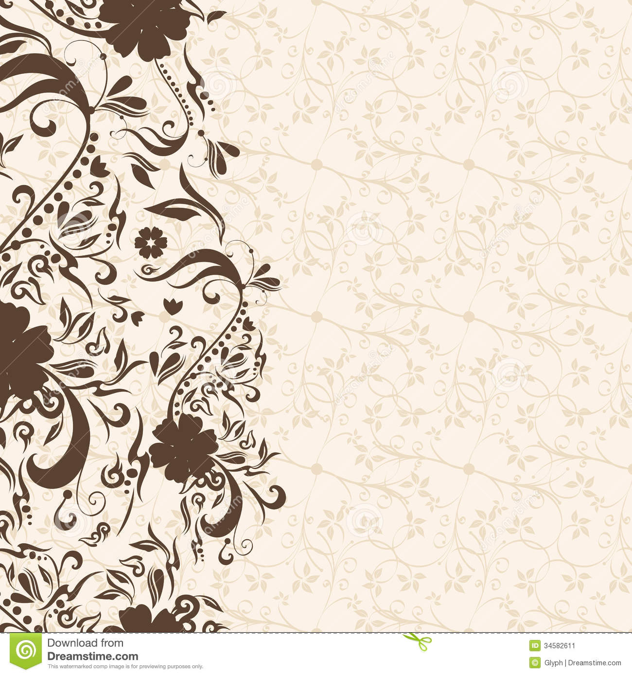 Vector beautiful abstract retro grunge vintage floral background ...