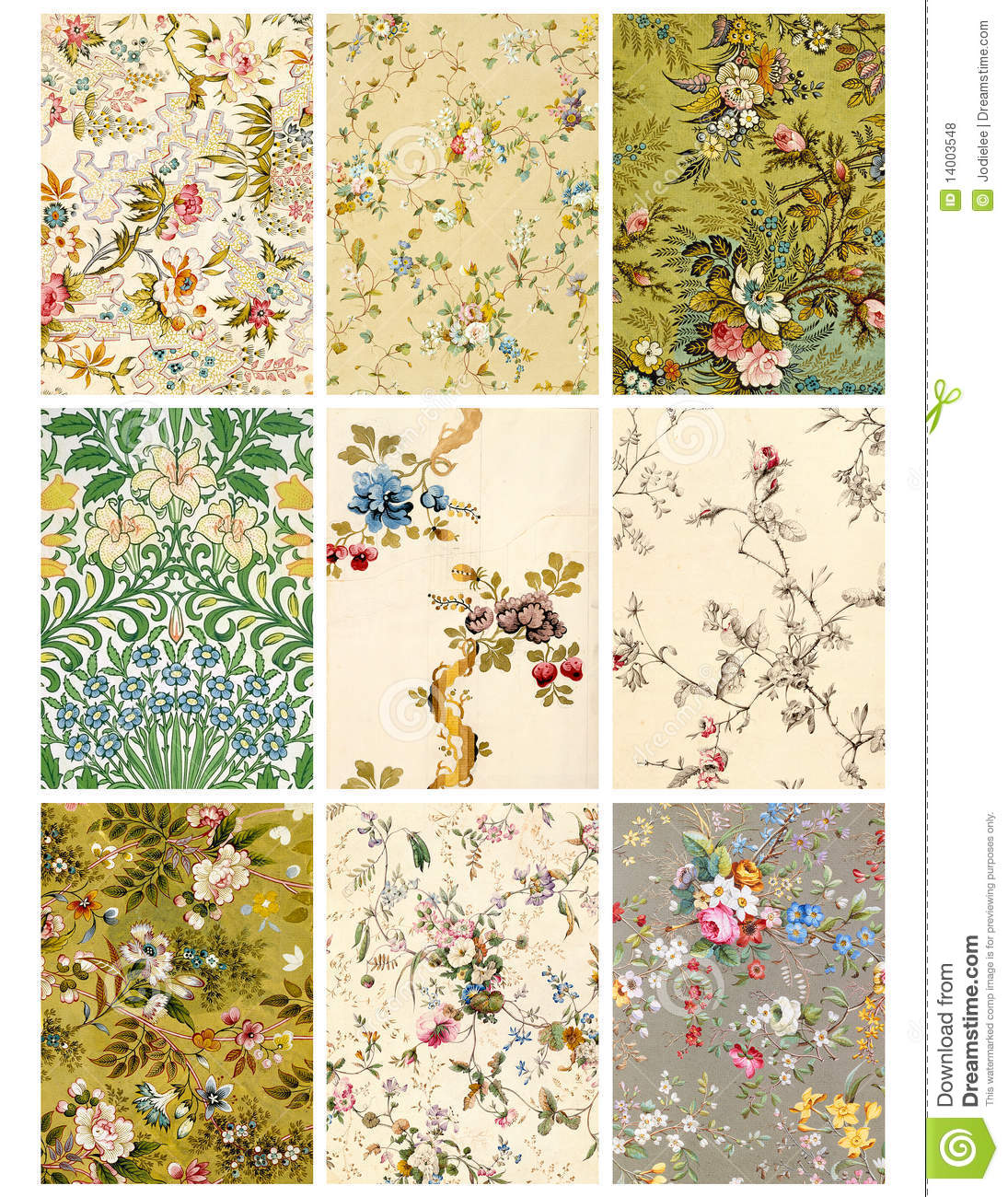 Vintage floral collage sheet or tags stock illustration vintage floral collage sheet or tags negle Image collections