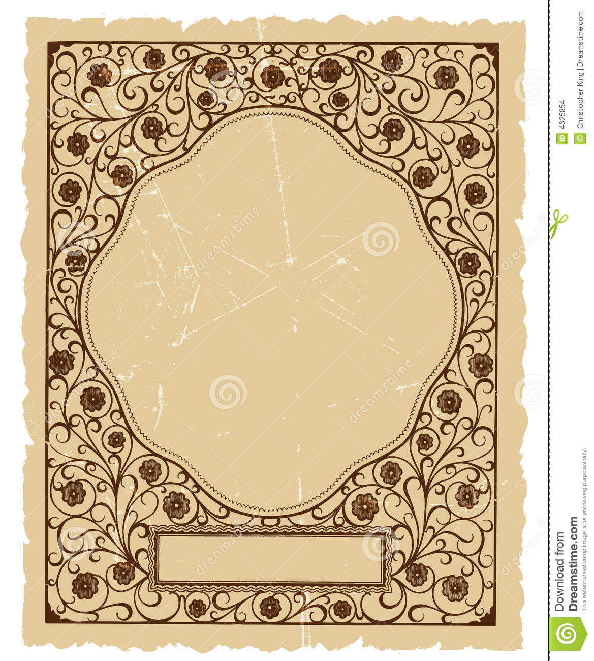 Vintage Floral Decorative Vector Background Design Stock ...