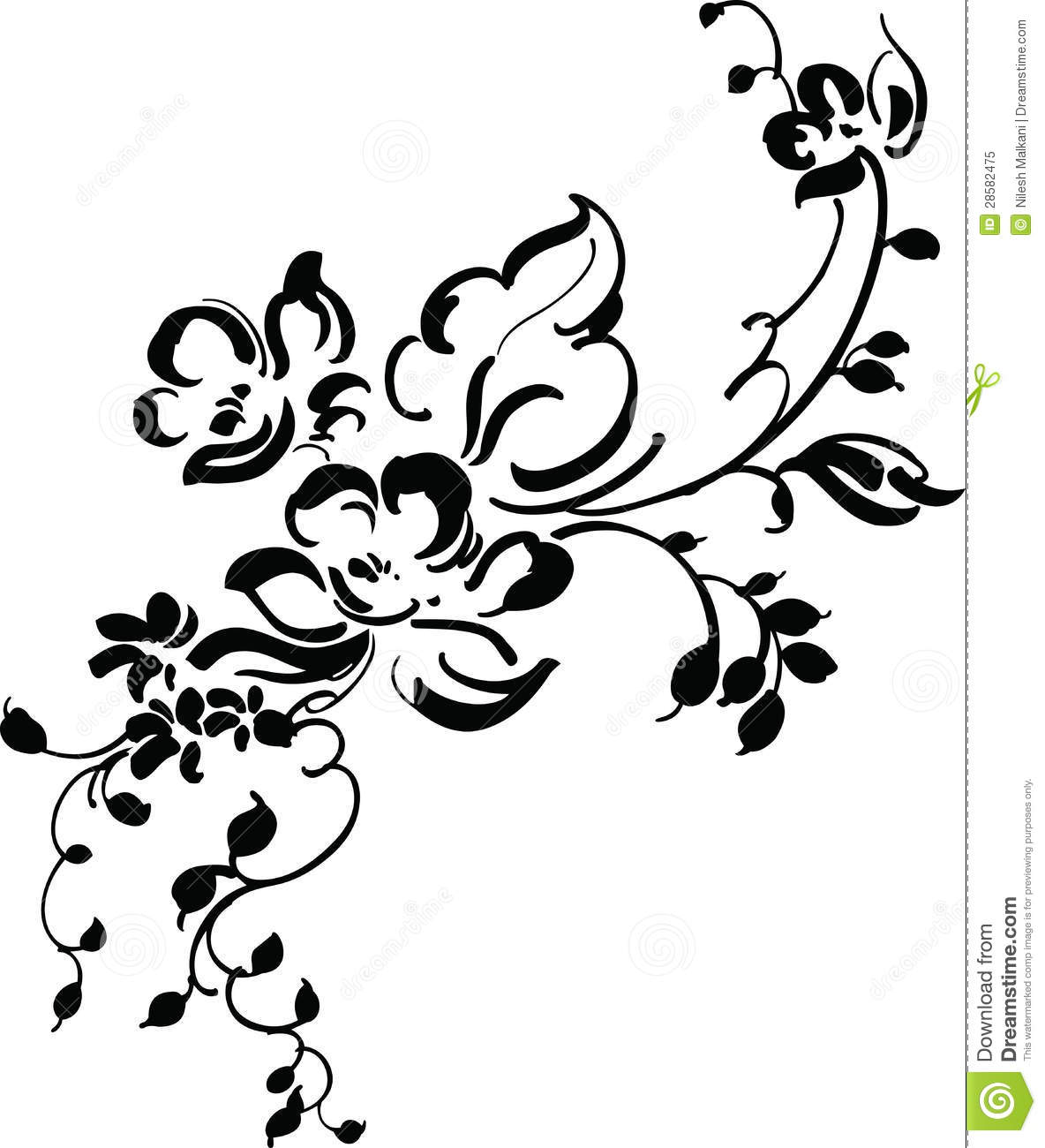 Black and white vintage wallpaper designs white and black wallpaper - Vintage Floral Design Royalty Free Stock Photo Image