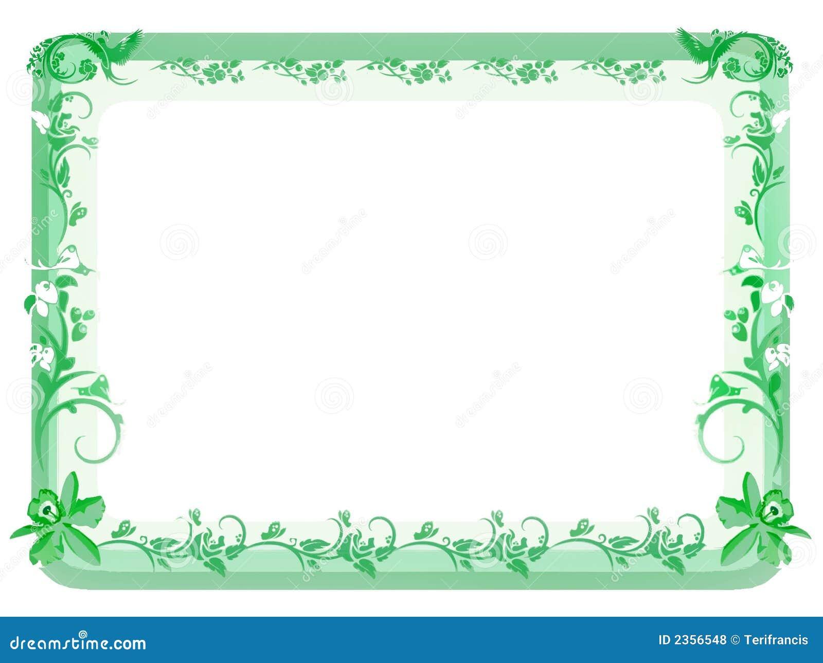 Vintage Floral Frame - Green Stock Illustration - Illustration of ...
