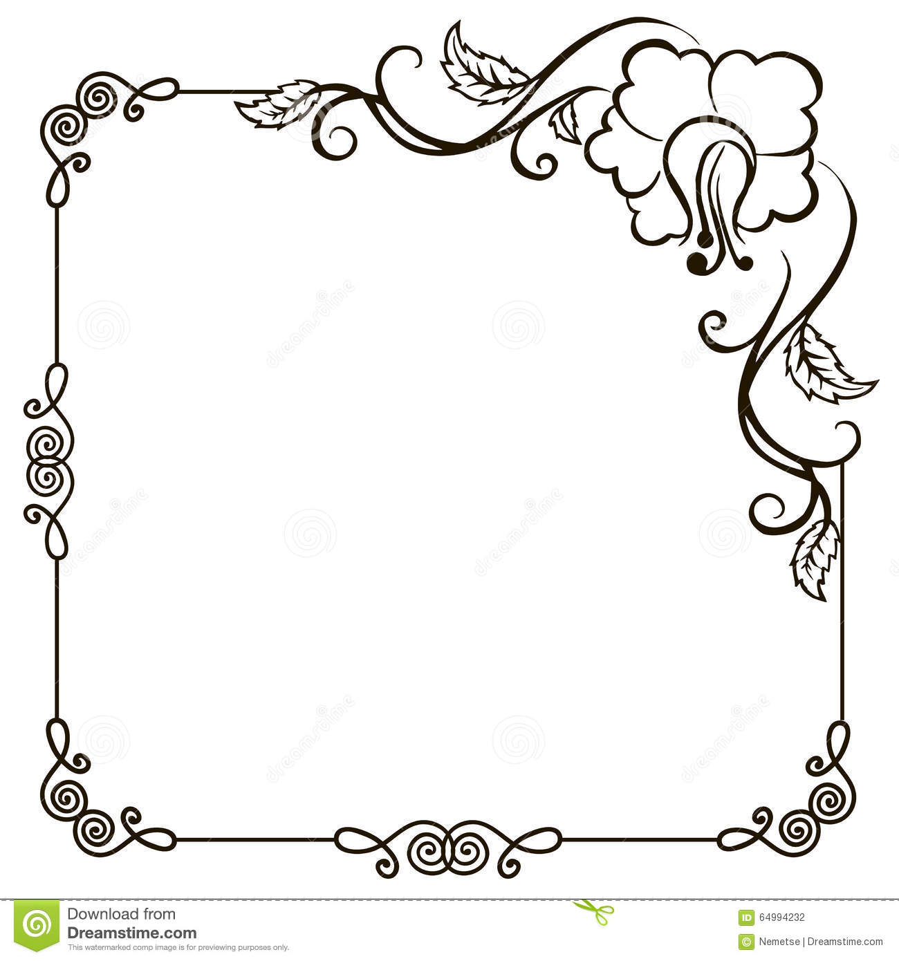 Vintage Floral Frame Stock Vector Illustration Of Abstract