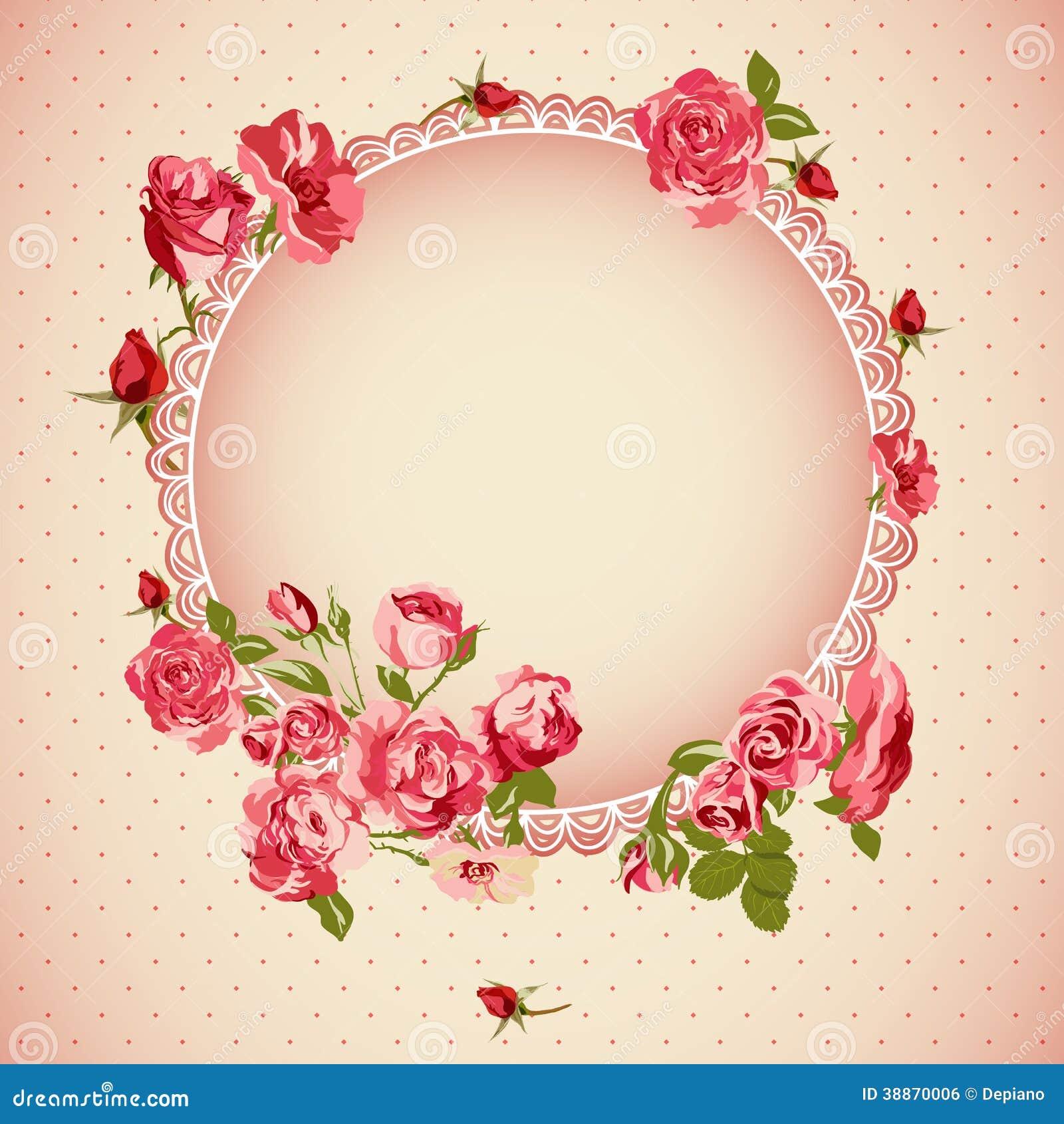 rose wedding invitation background - photo #40