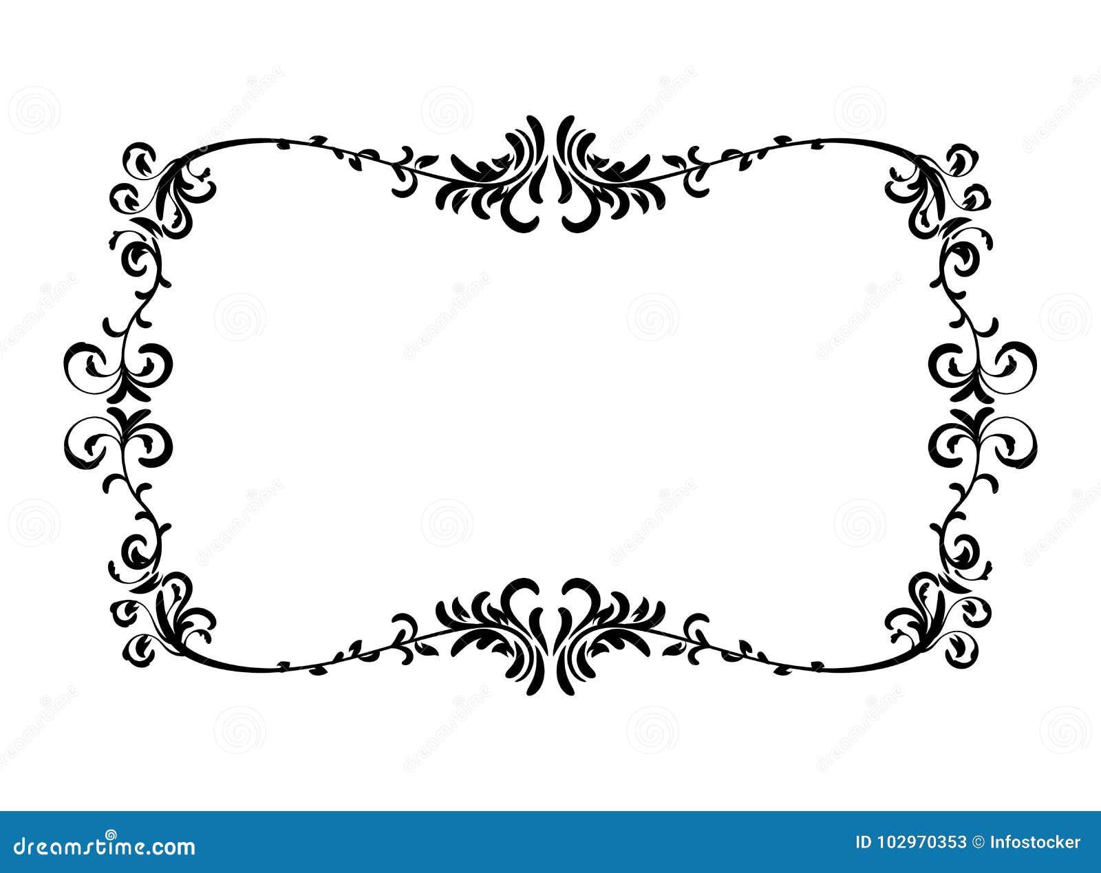 Vintage Floral Pattern Frame Stock Vector - Illustration of lace ...