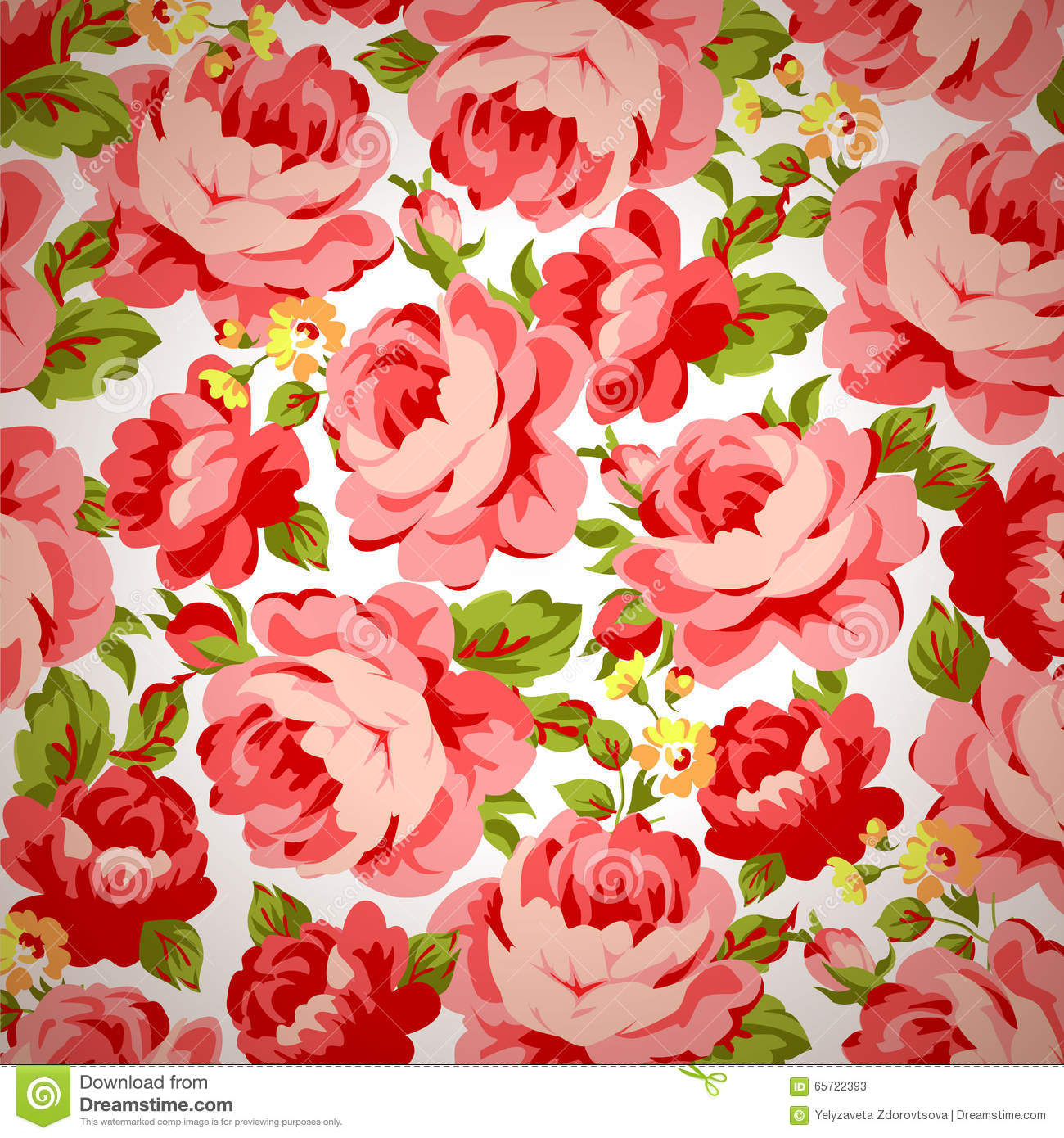 Vintage Floral - Antique/Rose fabric | Country Weekend ... |Vintage Floral Rose Pattern