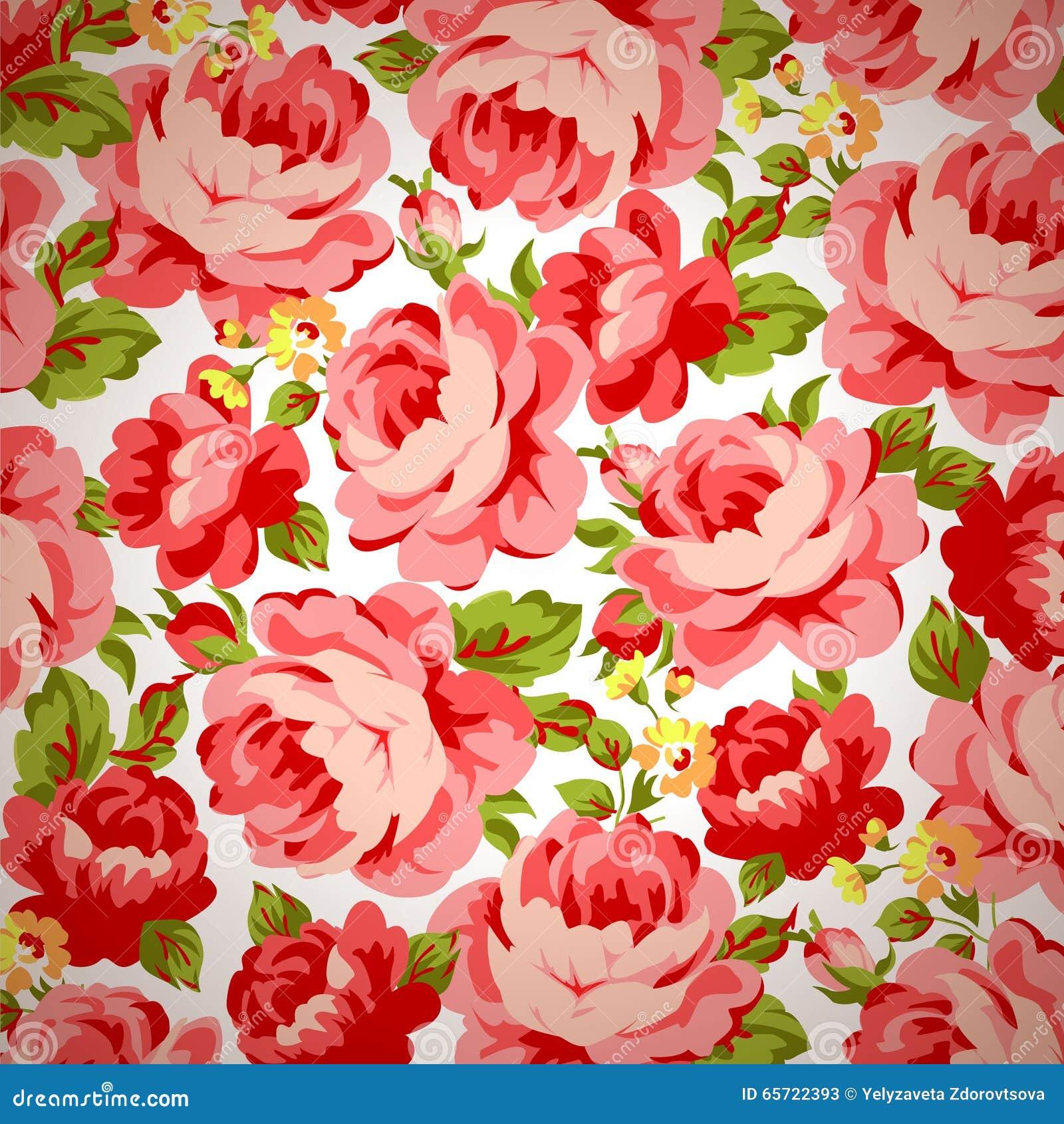 Vintage floral rose pattern