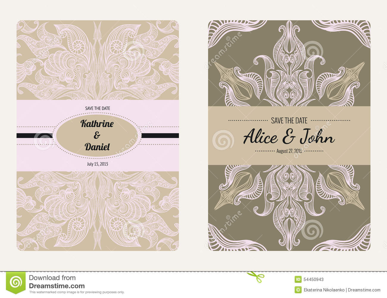 vintage save the date templates free - vintage floral save the date or wedding invitation card