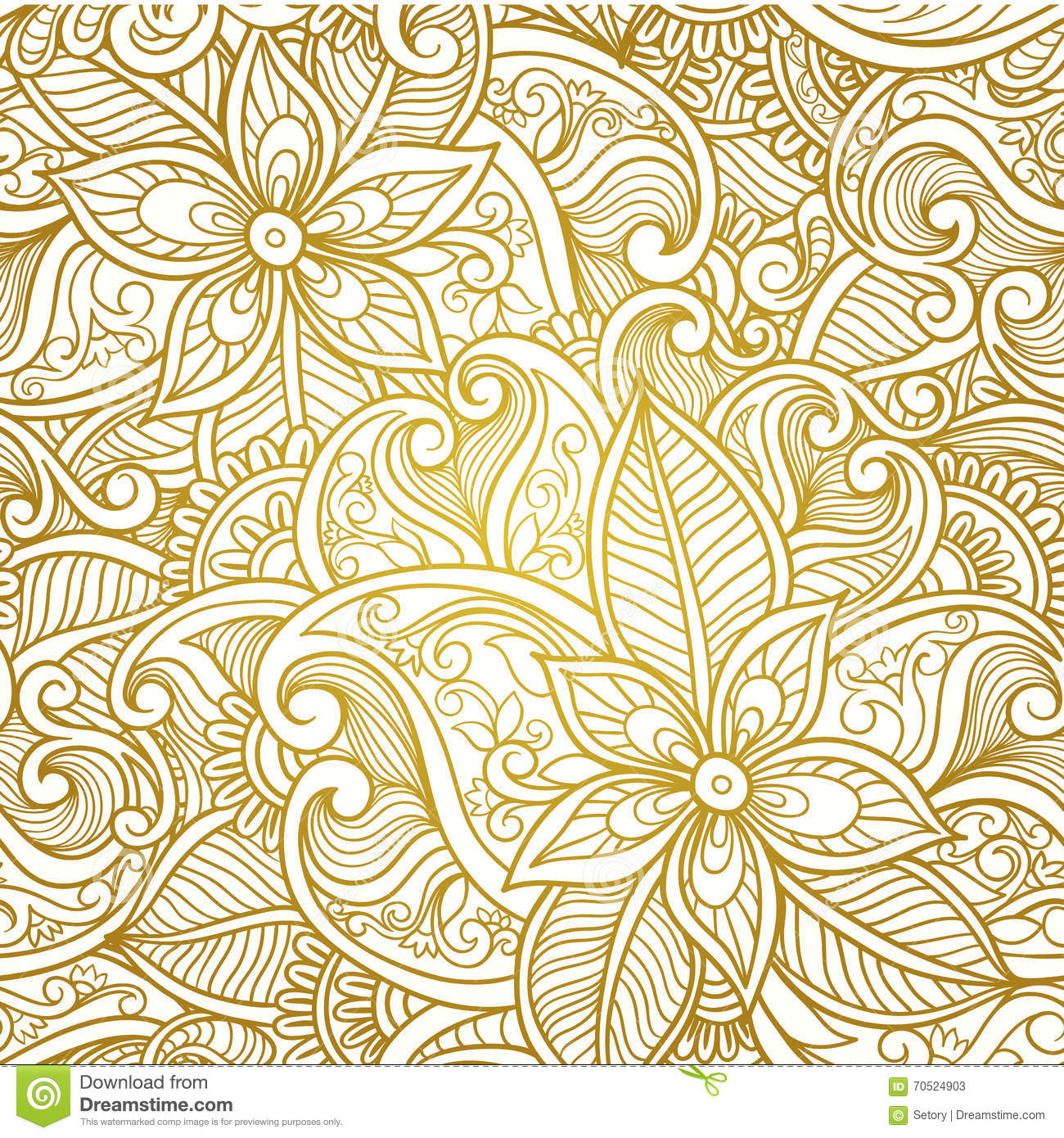 vintage floral seamless paisley pattern royalty free vector download