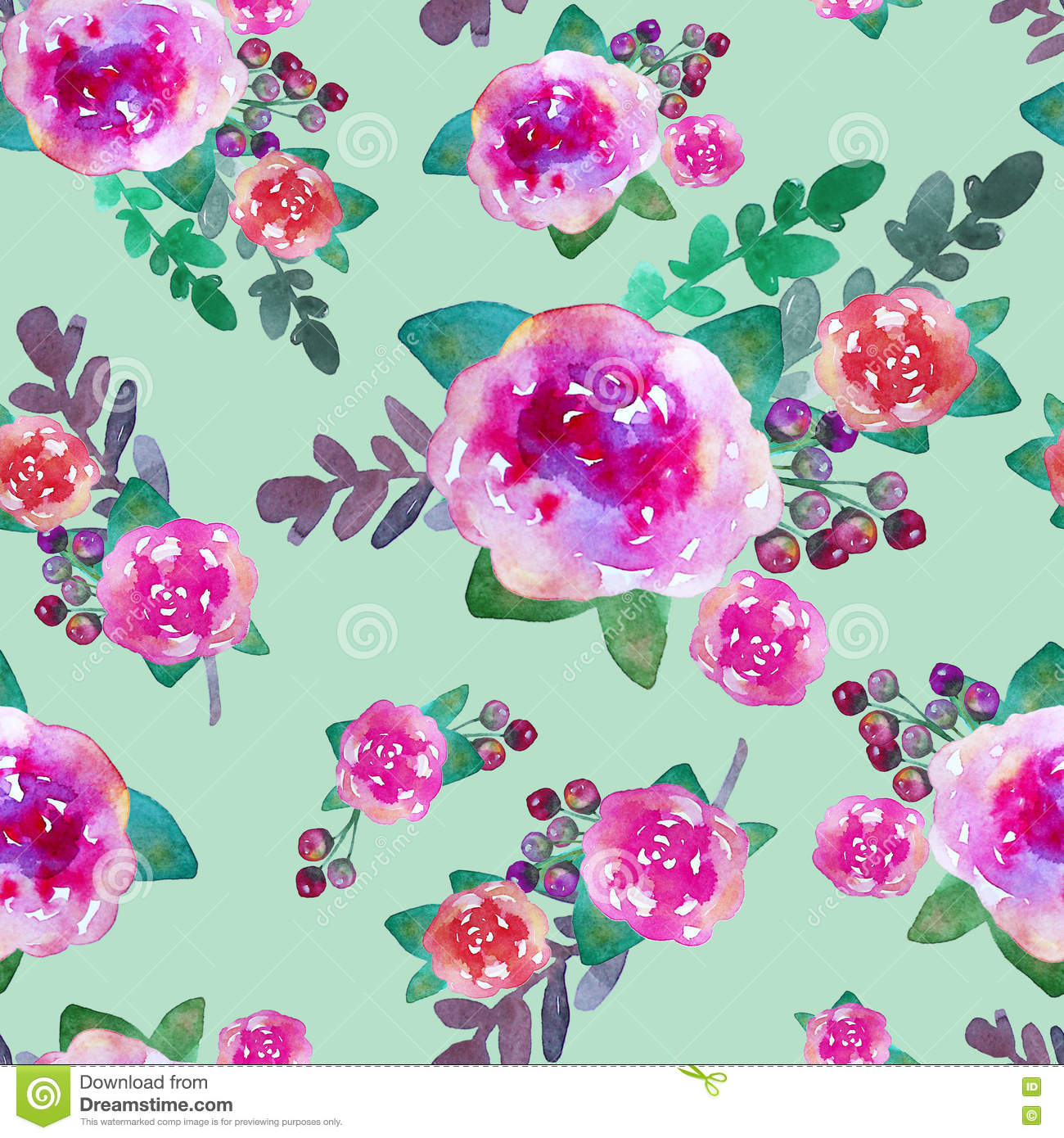 Vintage floral seamless pattern with rose flowers and leaf. Print for textile wallpaper endless.