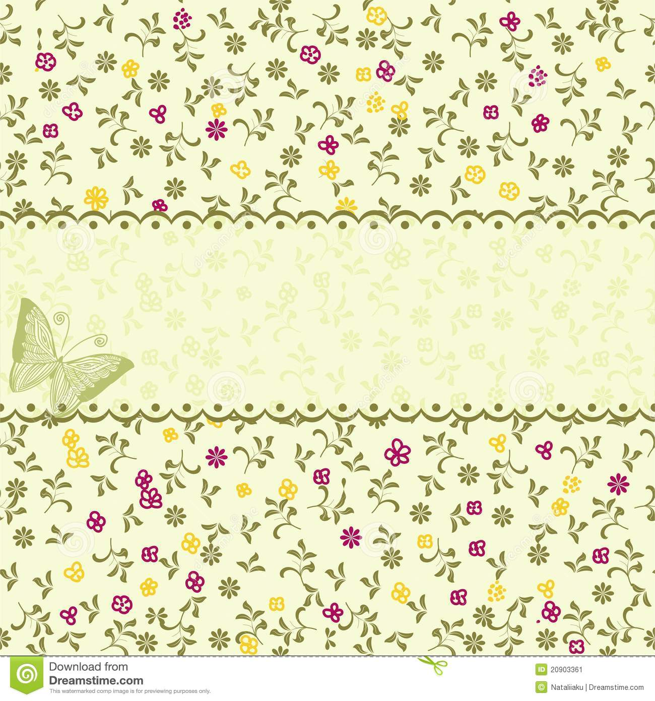 Vintage Floral Seamless Pattern In Vector Stock Vector ...