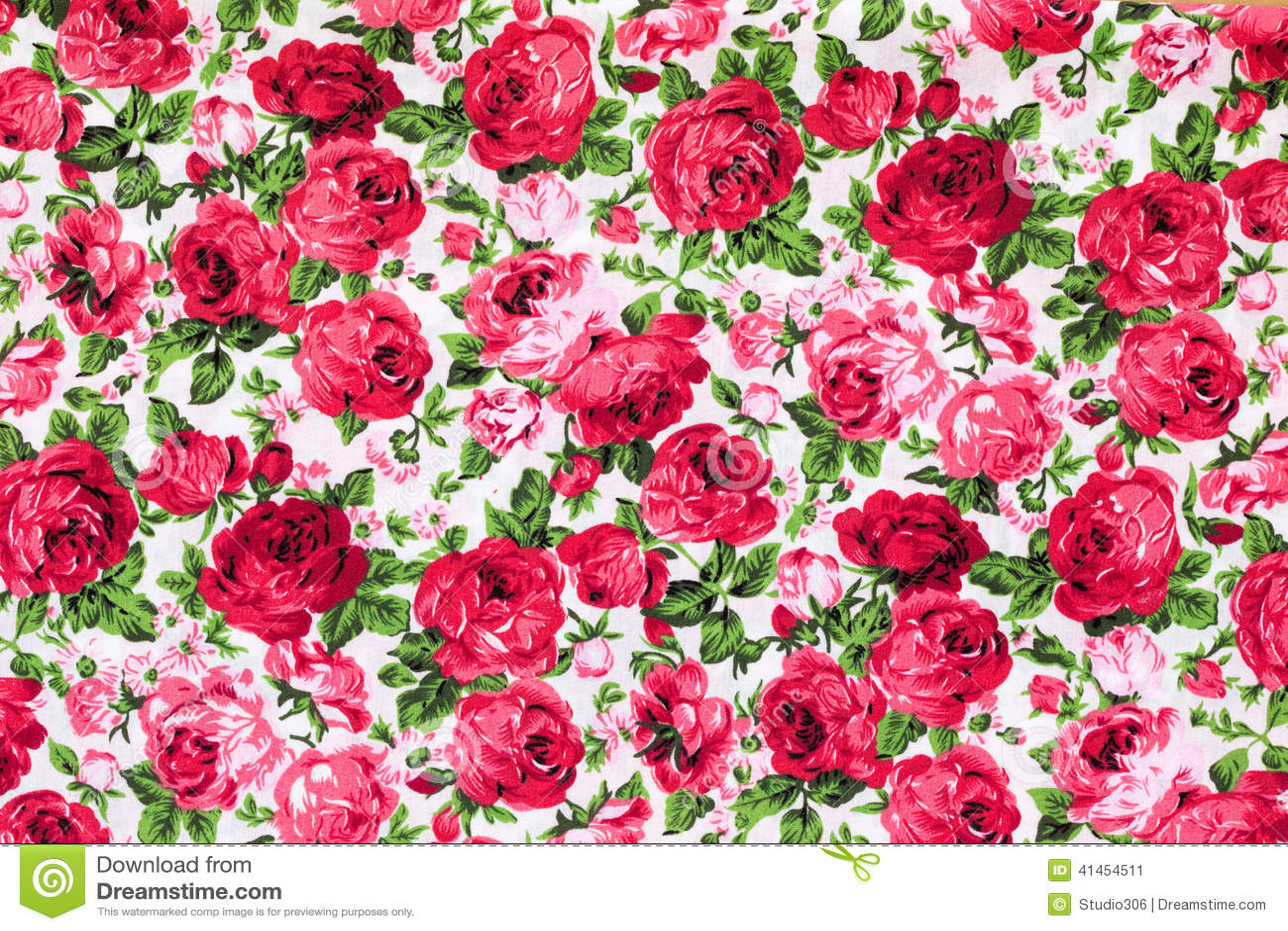 Vintage Floral Textile Pattern Stock Image - Image: 41454511