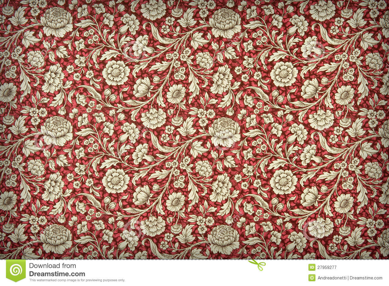 Vintage Floral Wallpaper Stock Image Image Of Paper 27959277