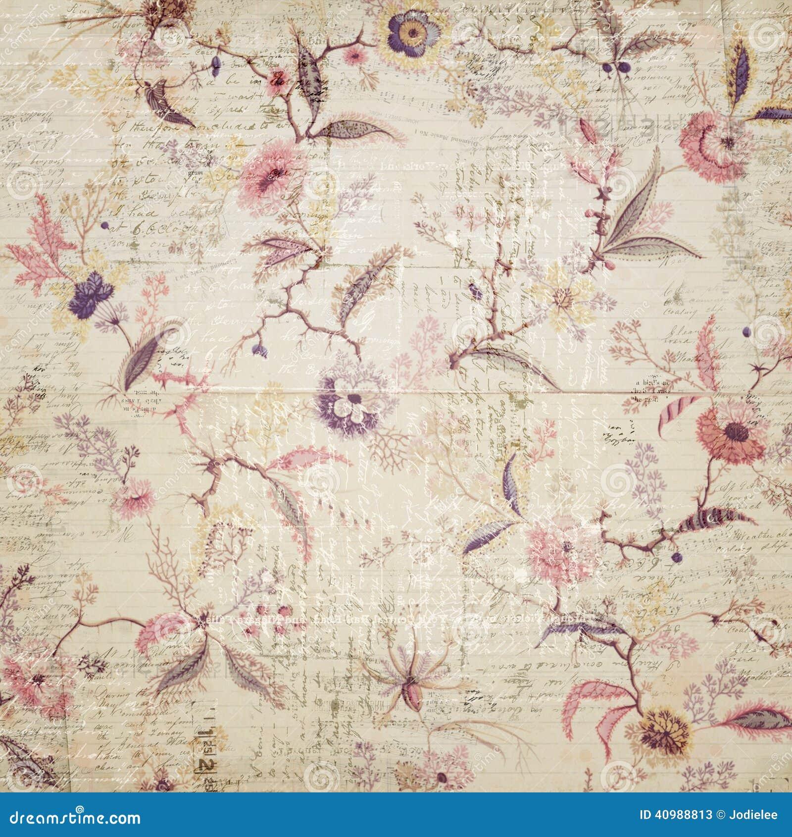 Vintage floral wallpaper stock image image of floral - Papeles pintados vintage ...