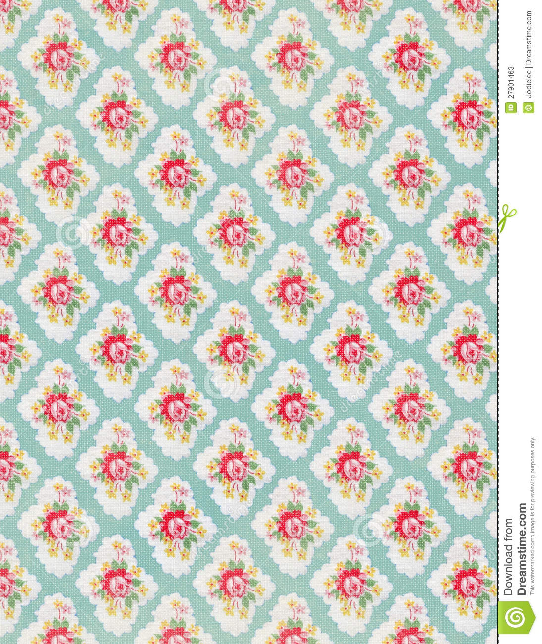 Vintage Floral Wallpaper Rose Repeat Pattern Stock Image Image