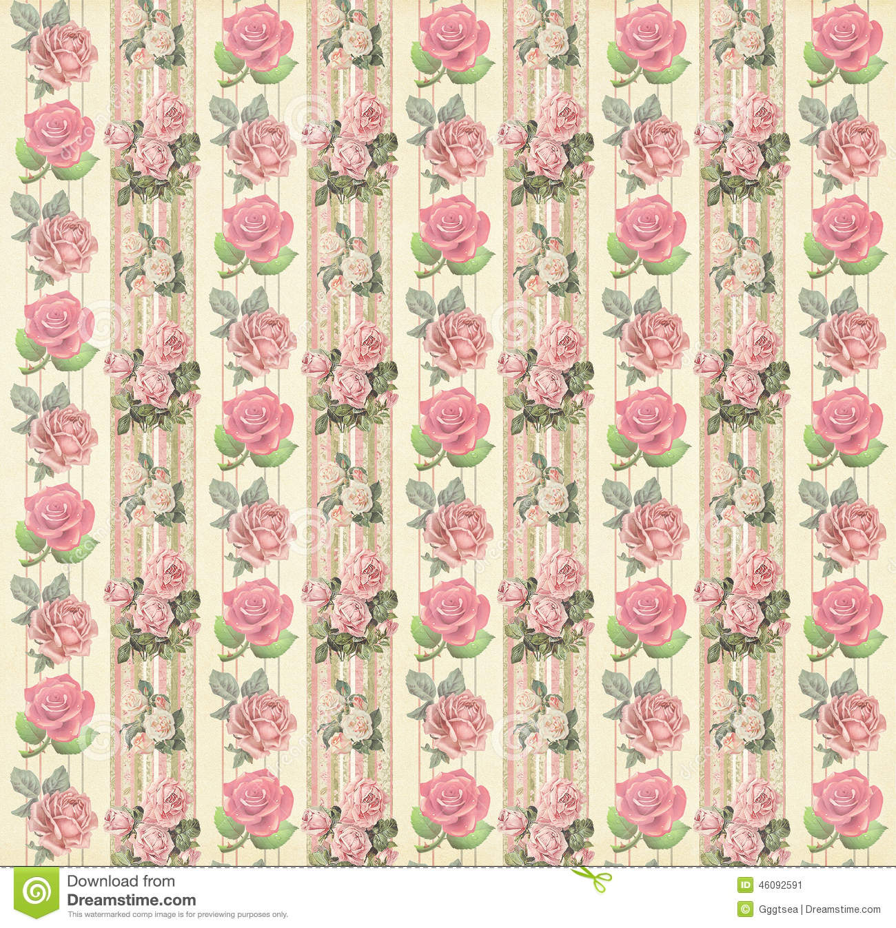 Vintage Floral Wallpaper Stock Image Image Of Design 46092591