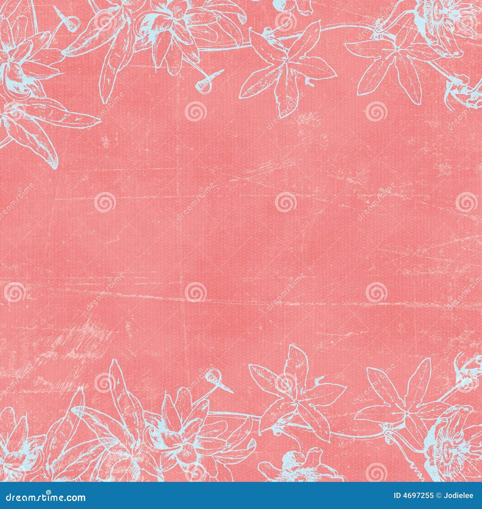 Vintage Florals Botanical Paper Background