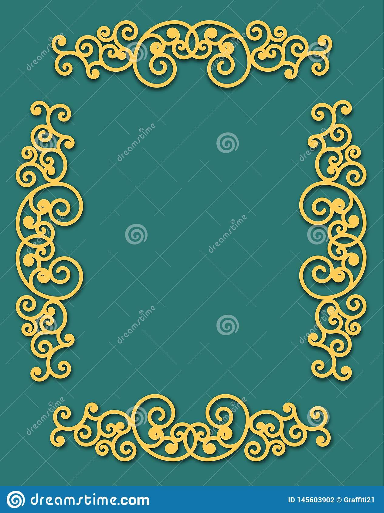 Vintage flourishes ornament frame template vector illustration. Victorian borders for greeting cards, wedding invitations,
