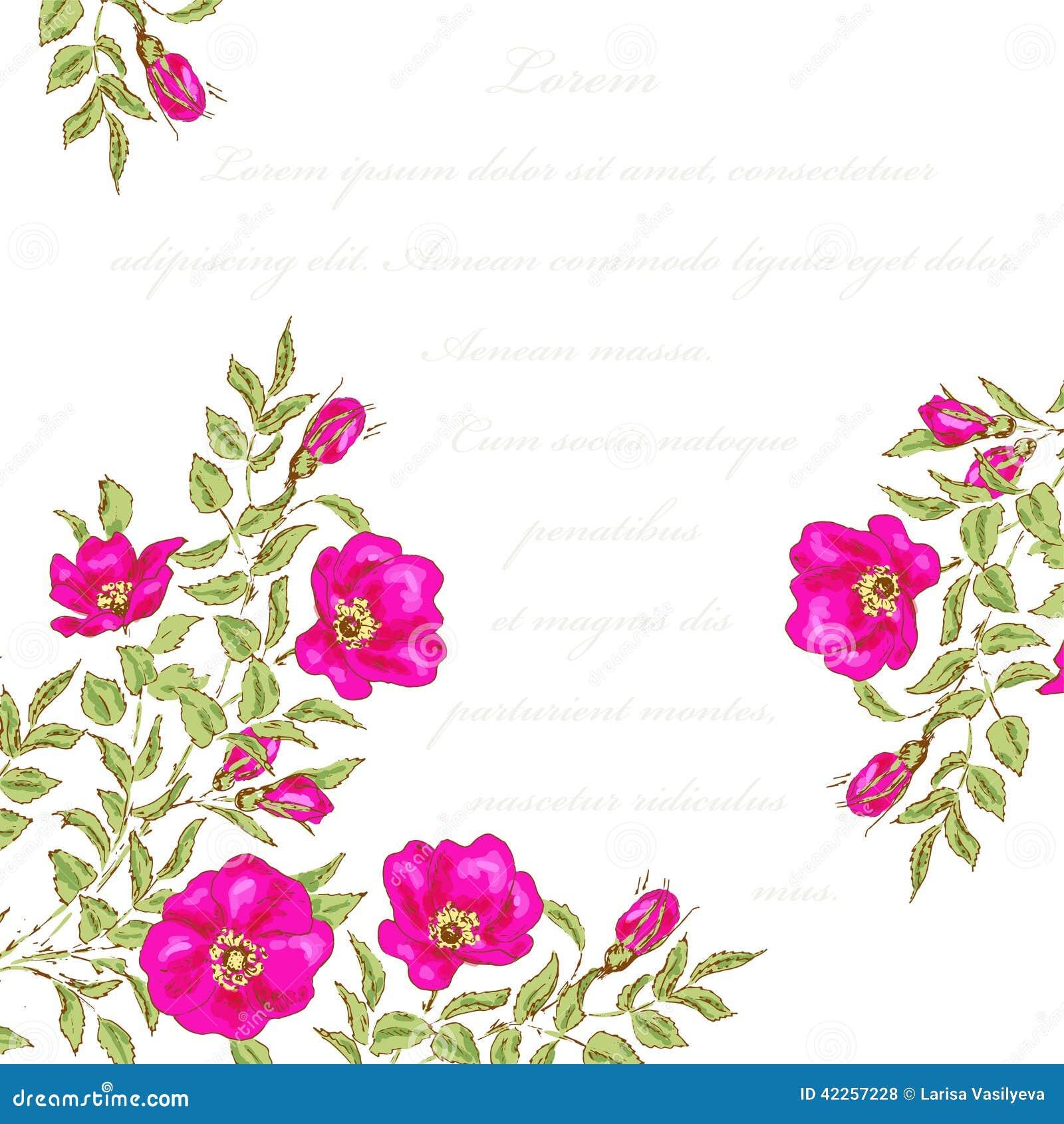 Vintage Flower Background Stock Vector. Illustration Of