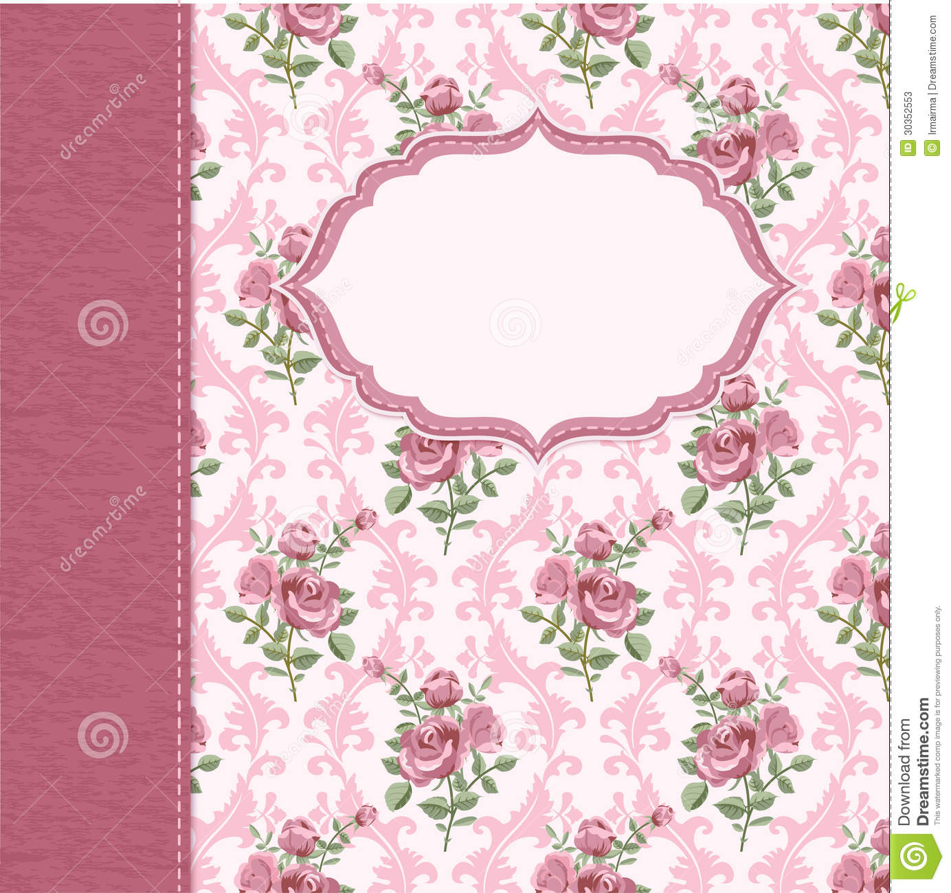 Vintage Flower Background Stock Photos