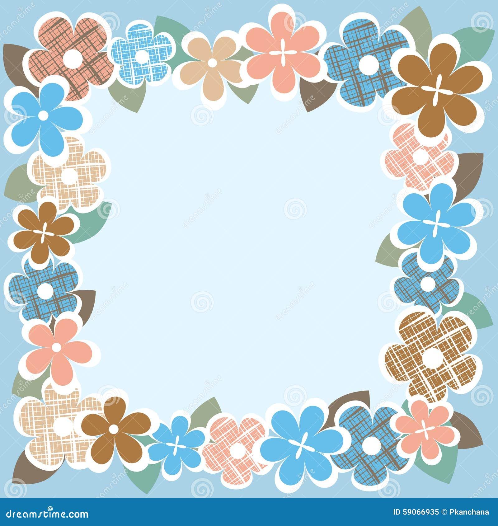 Vintage Flower Border Stock Vector Illustration Of Decorative