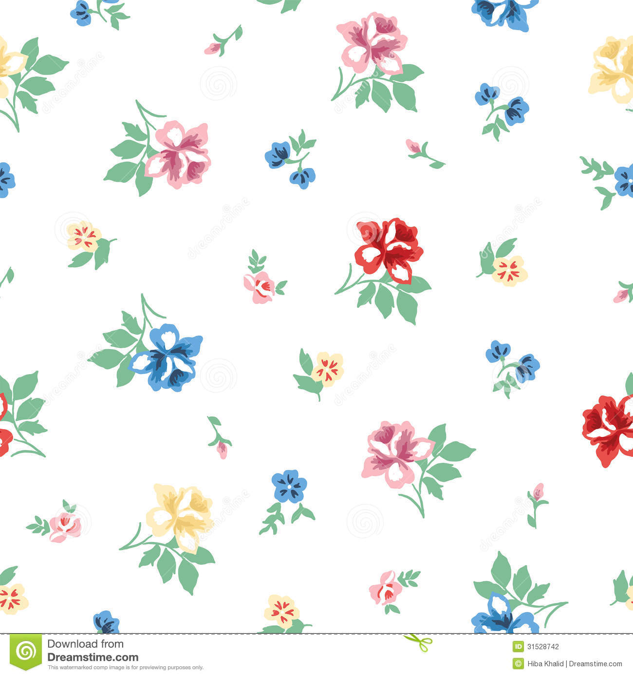 Vintage Flower Pattern Stock graphy Image