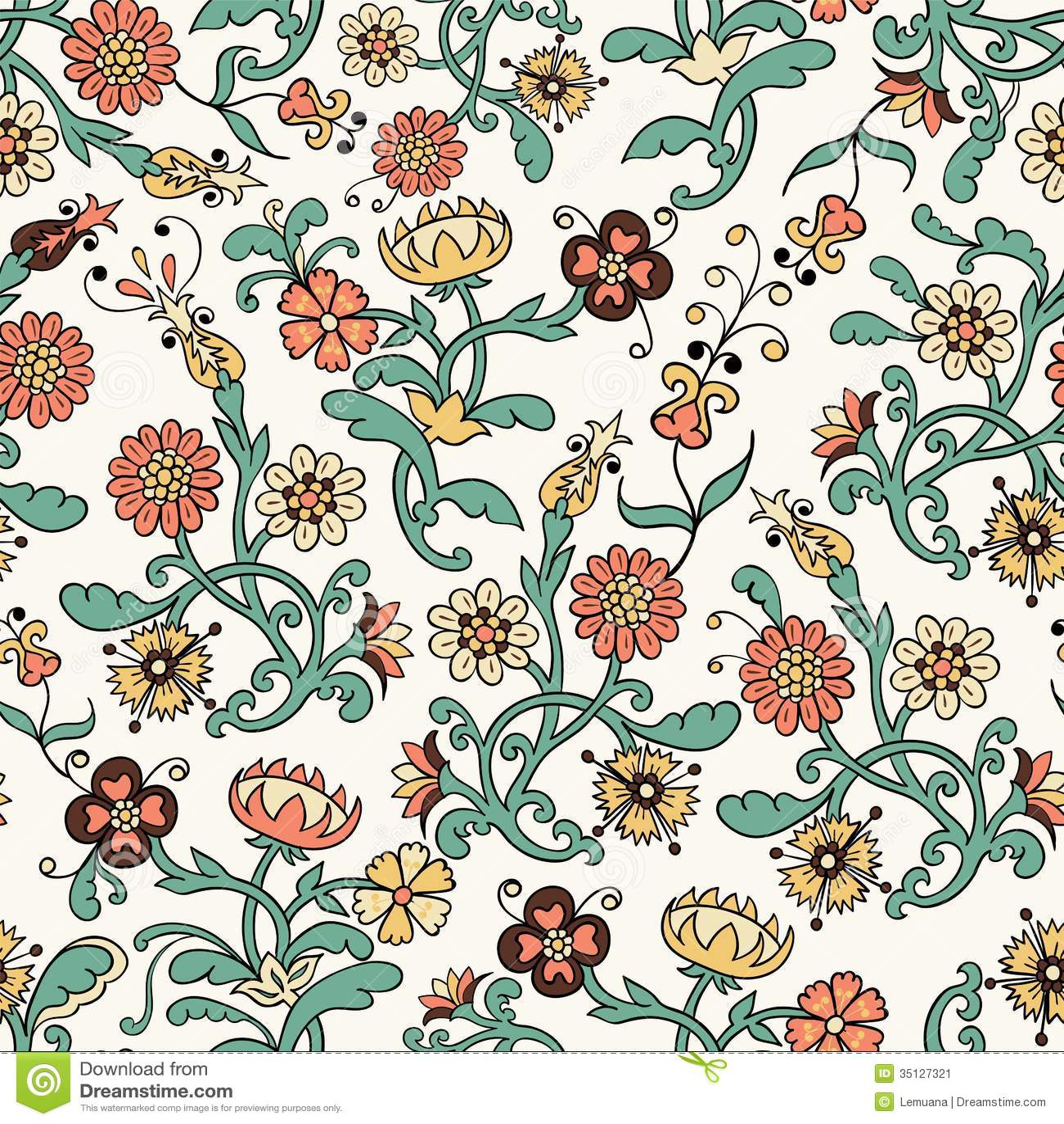Vintage Flower Patterns Vintage flower seamless