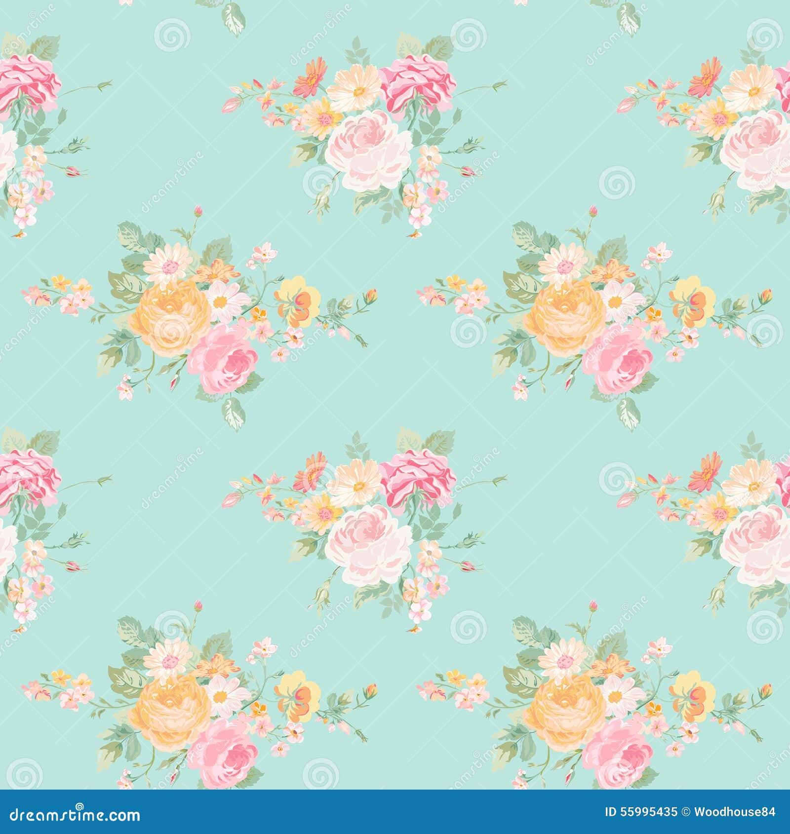 Vintage Flowers Background Stock Vector