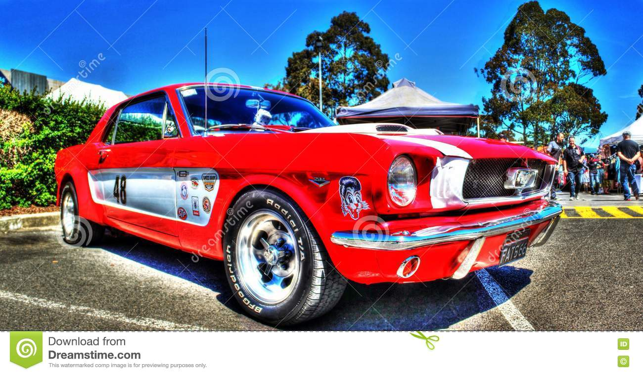 Vintage Ford Mustang Race Car Editorial Image Image Of American