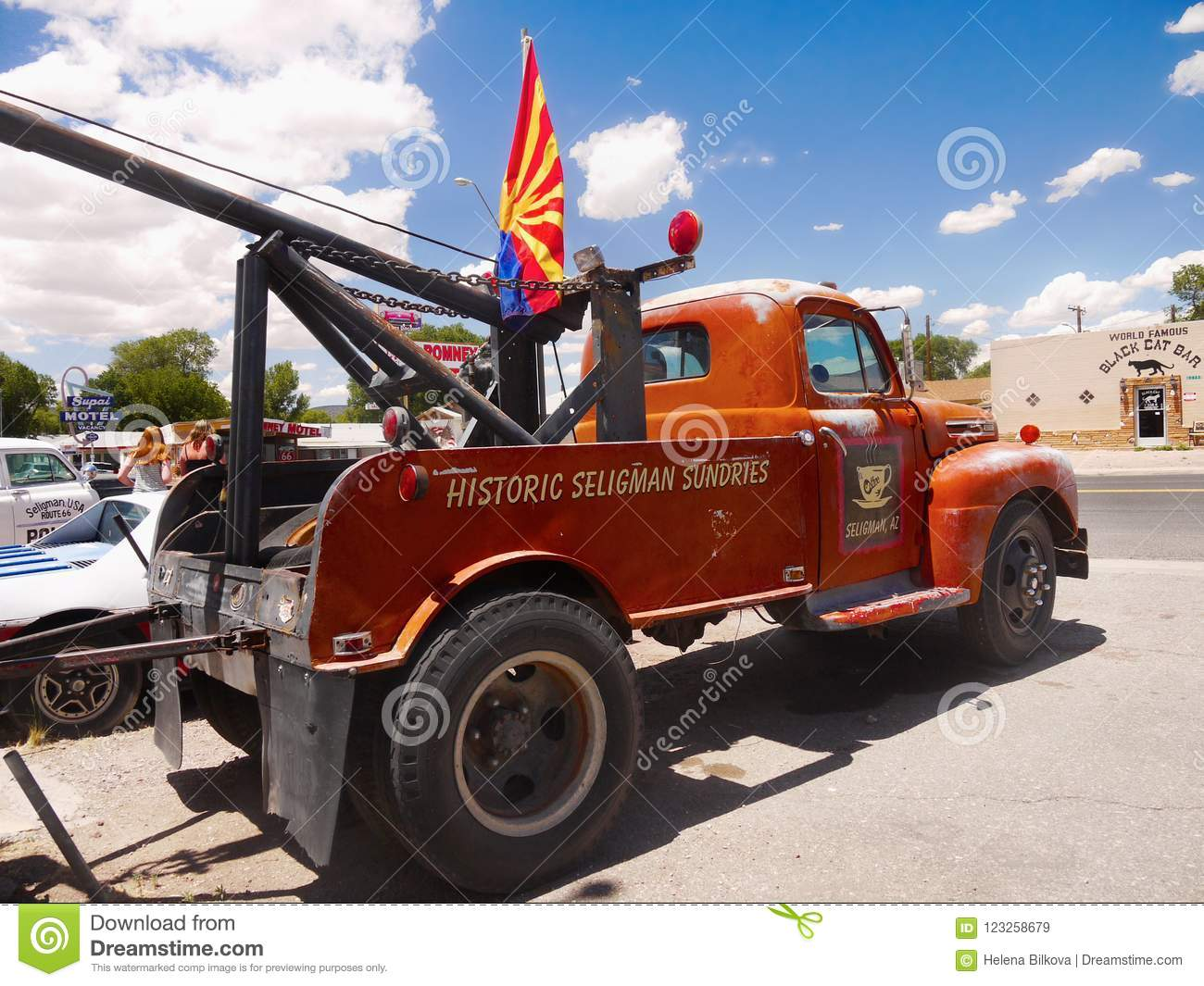 Vintage Ford Truck Route 66 Seligman Az Editorial Stock Image 1948 Pickup